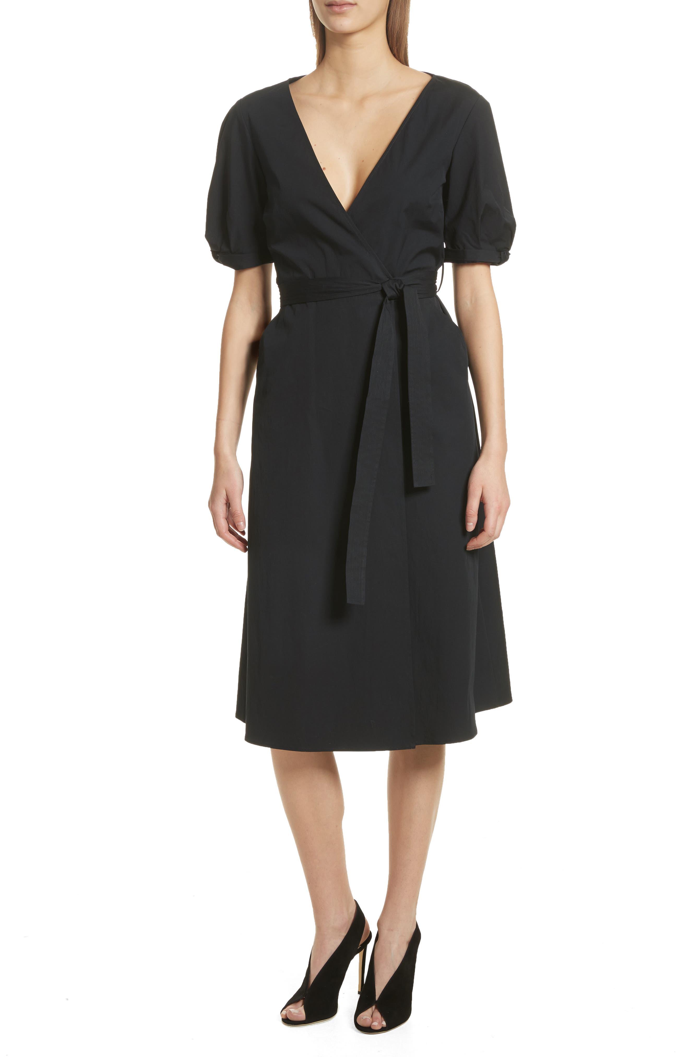 Meghan Wrap Dress,                             Main thumbnail 1, color,                             001