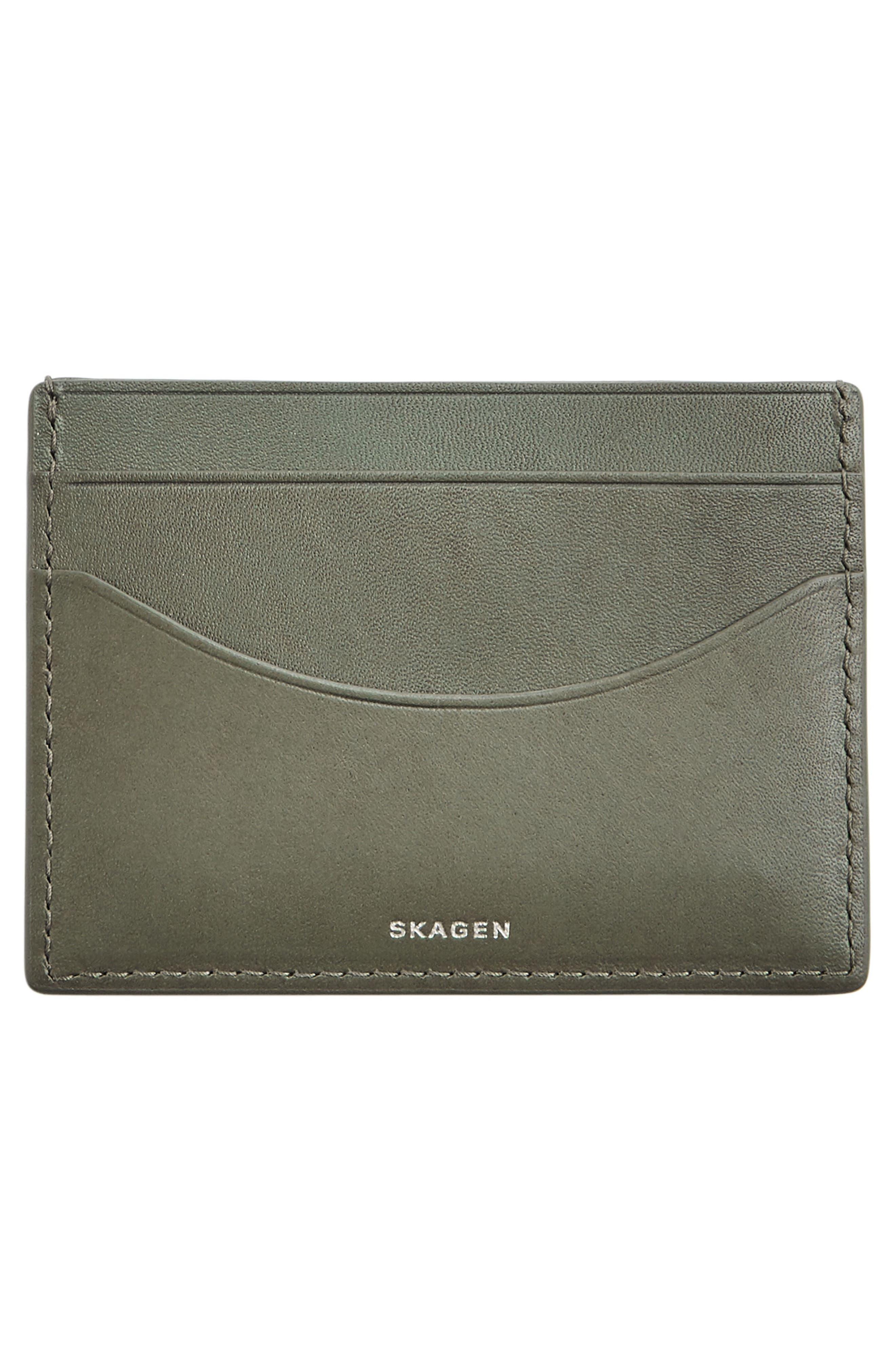 'Torben' Leather Card Case,                             Alternate thumbnail 3, color,                             357