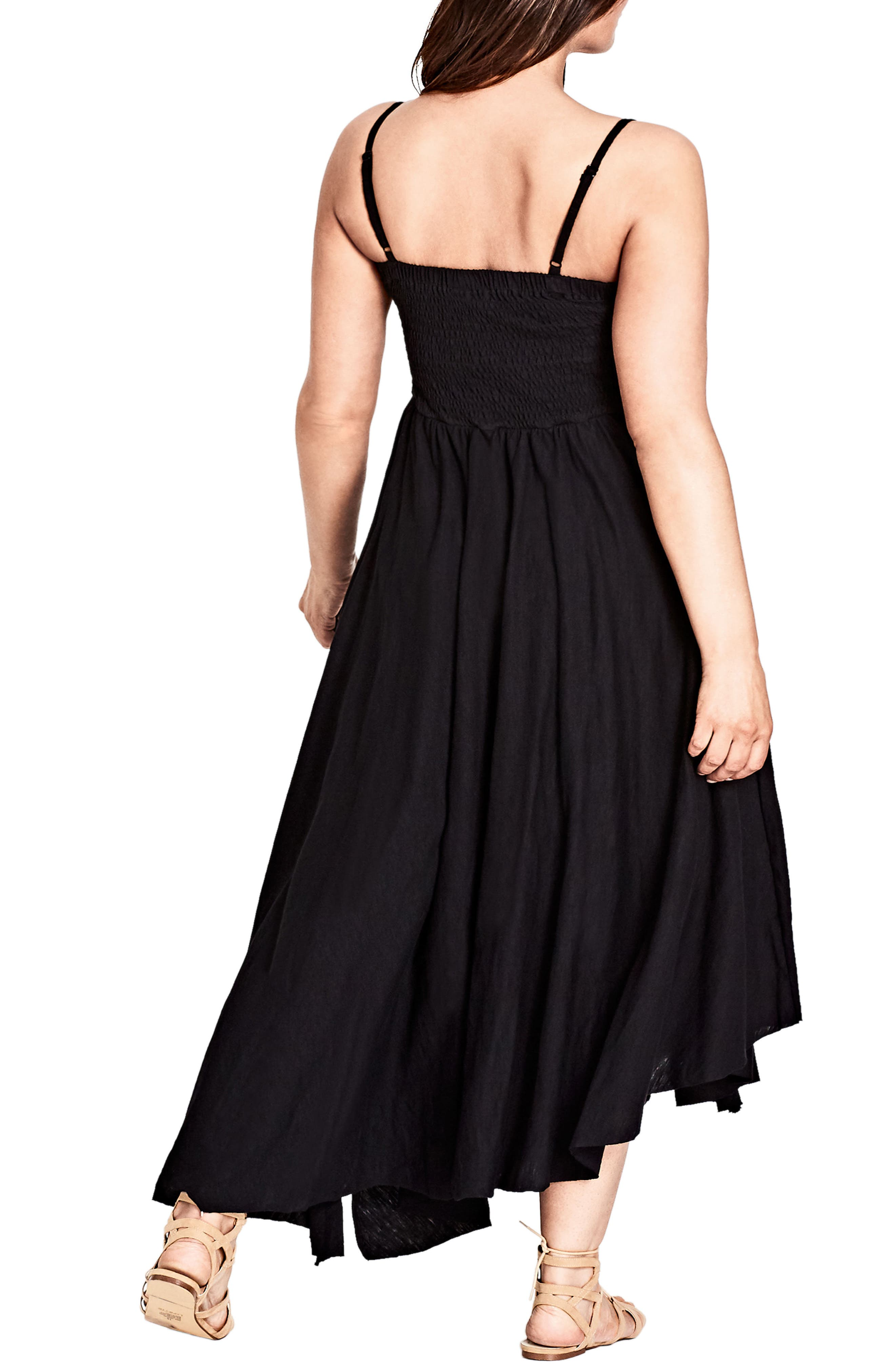 Strappy Maxi Dress,                             Alternate thumbnail 2, color,                             BLACK