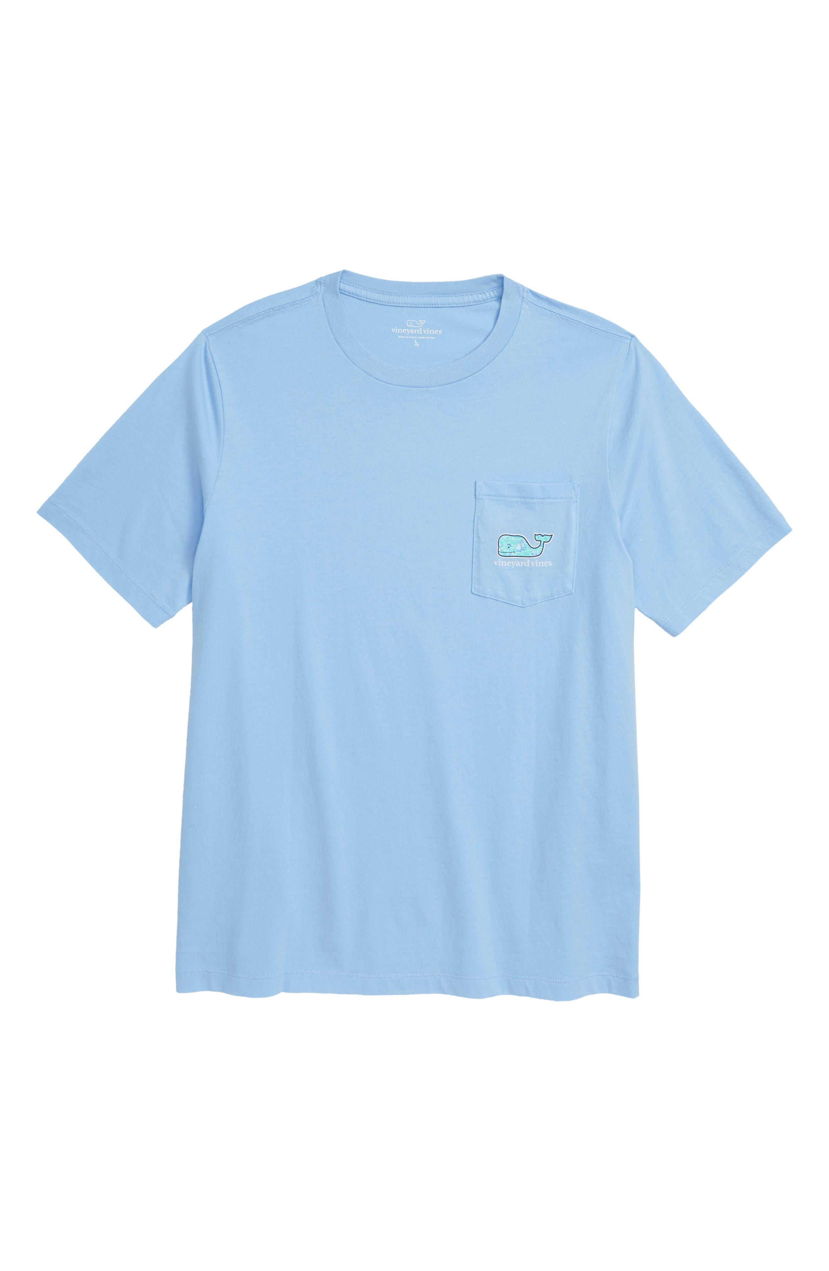 Sailing the Vineyard Whale Pocket T-Shirt,                             Main thumbnail 1, color,                             456