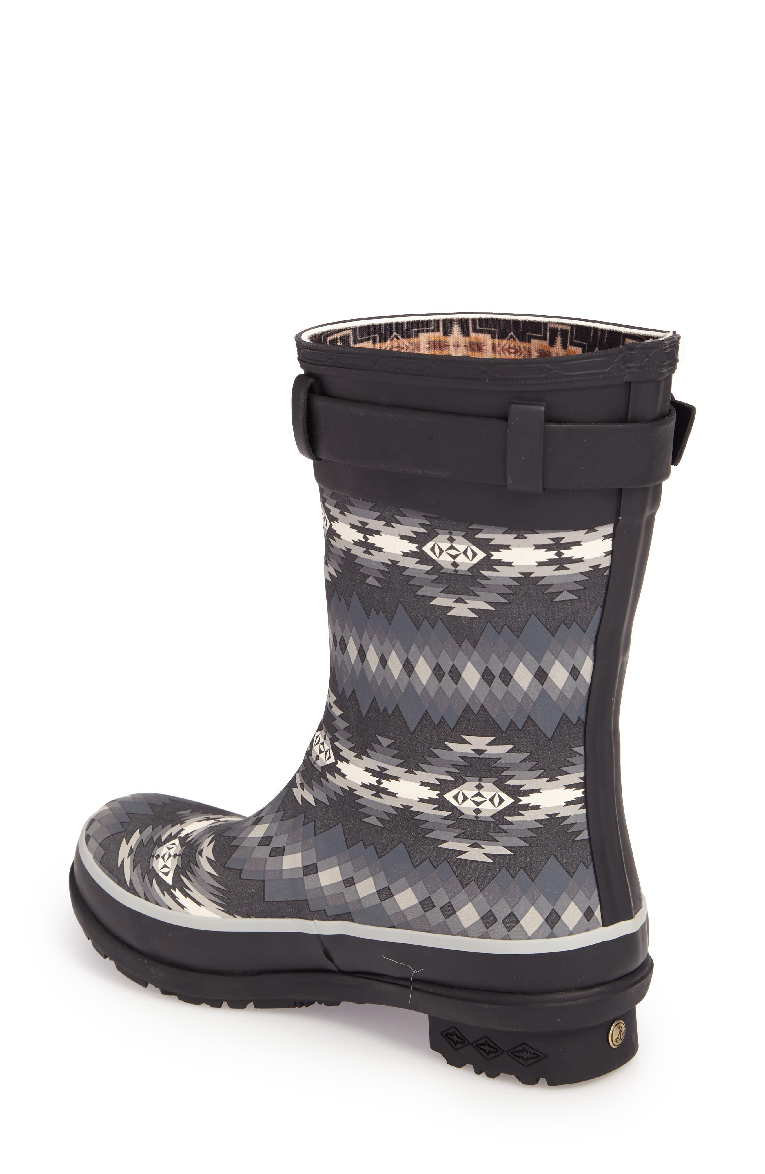 Pendleton Papago Park Short Rain Boot,                             Alternate thumbnail 2, color,                             BLACK