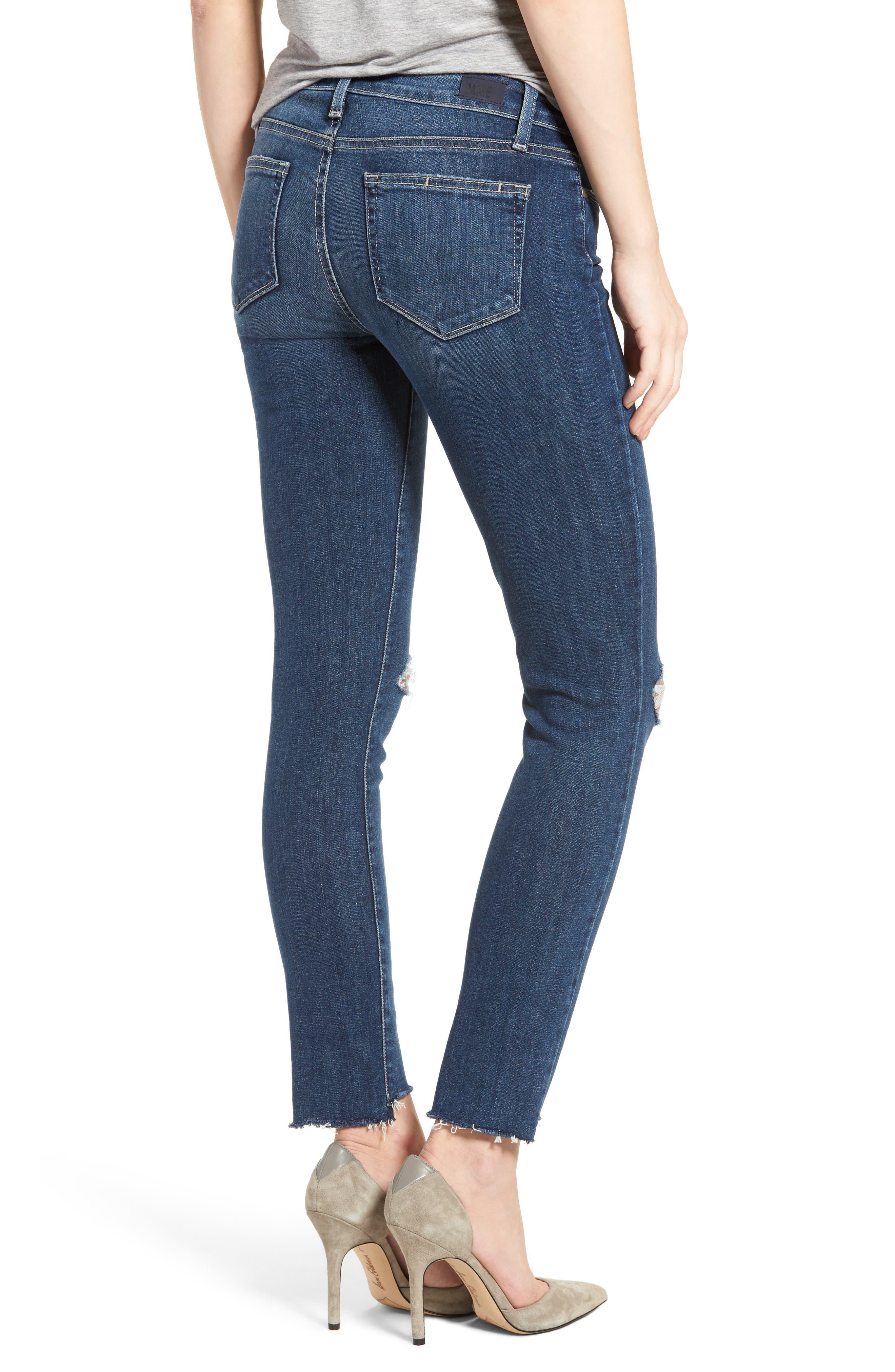 Verdugo Step Hem Ankle Skinny Jeans (Dede Destructed),                             Alternate thumbnail 2, color,                             400