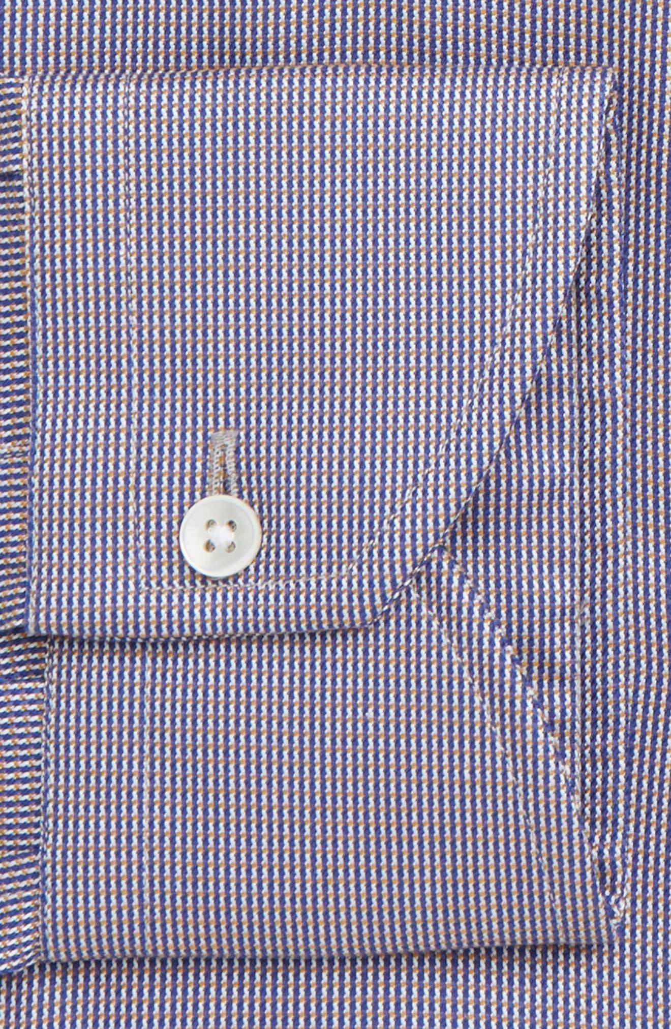 Trim Fit Check Dress Shirt,                             Alternate thumbnail 2, color,                             BROWN