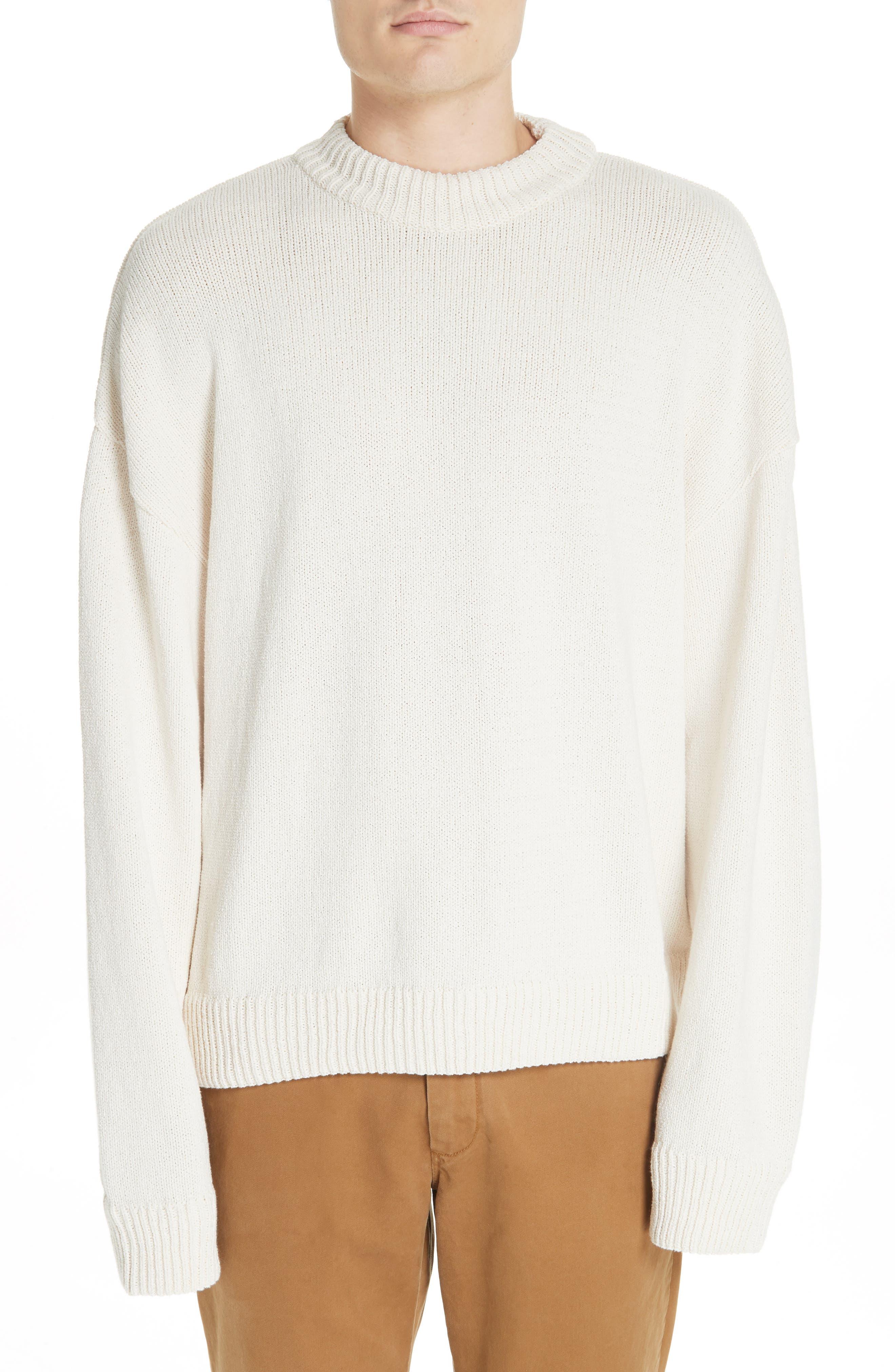 Somar Oversized Crewneck Sweater,                             Main thumbnail 1, color,                             100