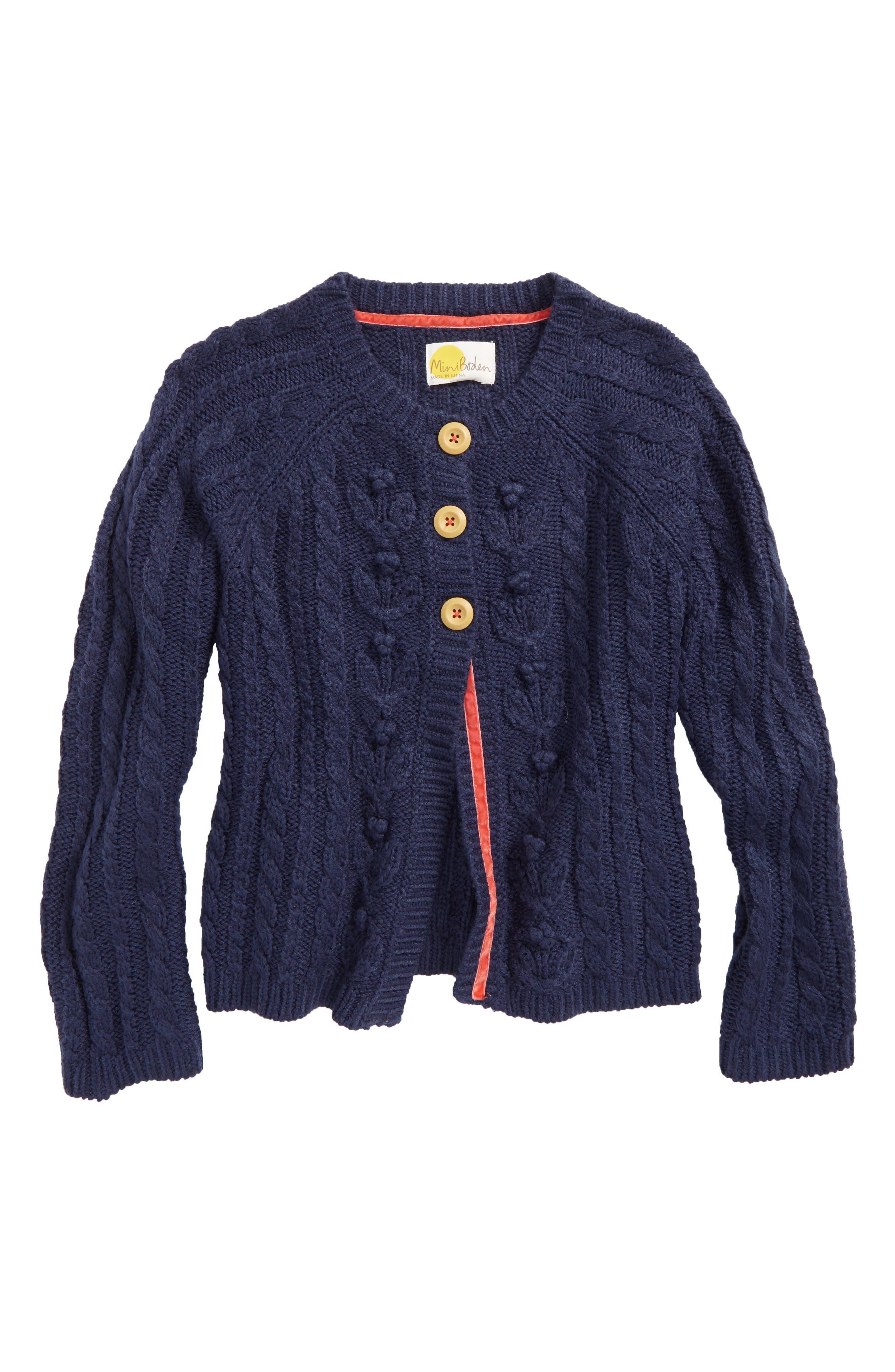 Cable Knit Cardigan,                             Main thumbnail 1, color,                             414