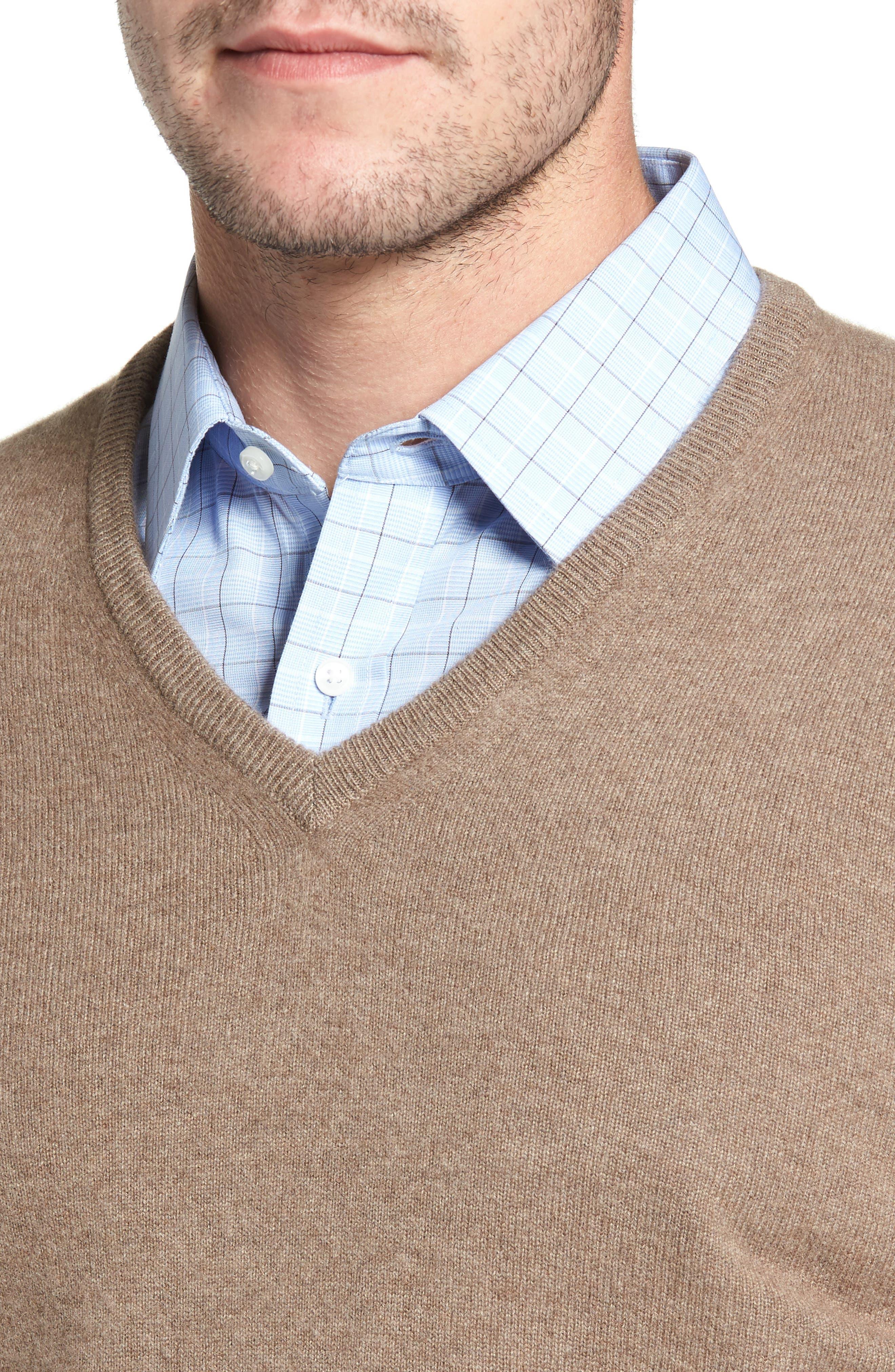 Cashmere V-Neck Sweater,                             Alternate thumbnail 21, color,