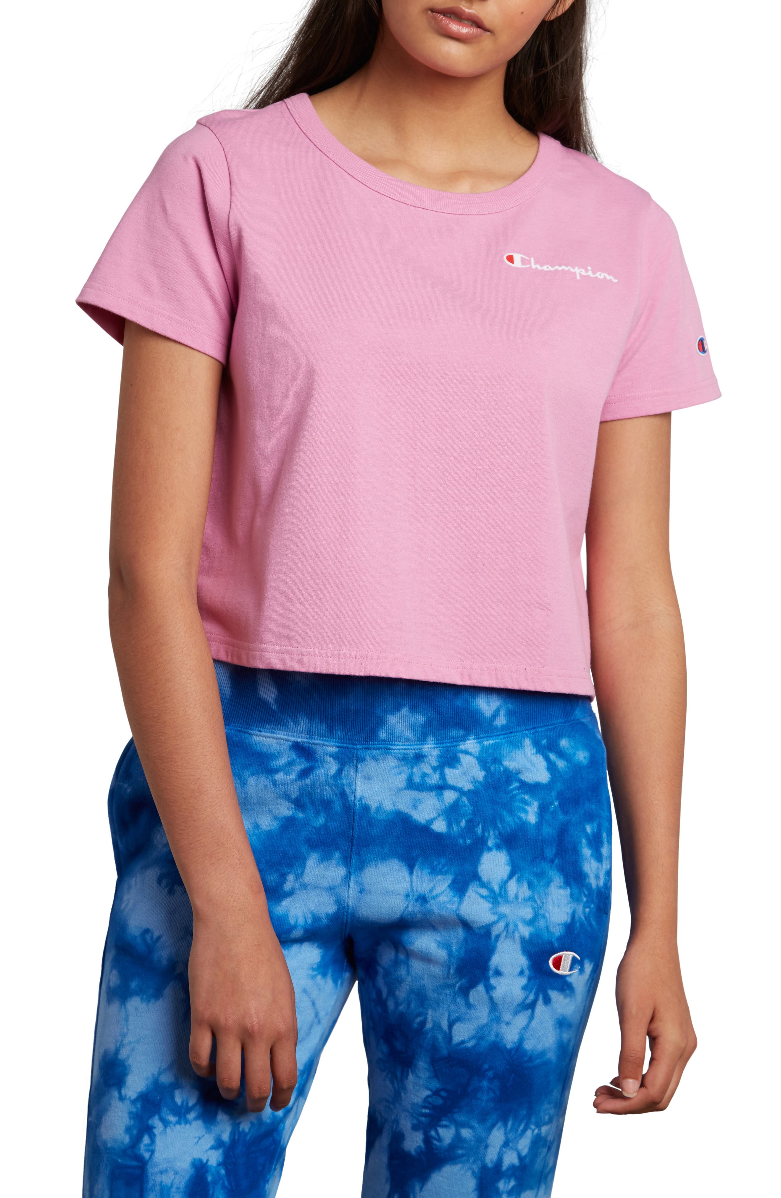 Crop Tee,                         Main,                         color, PAPER ORCHID