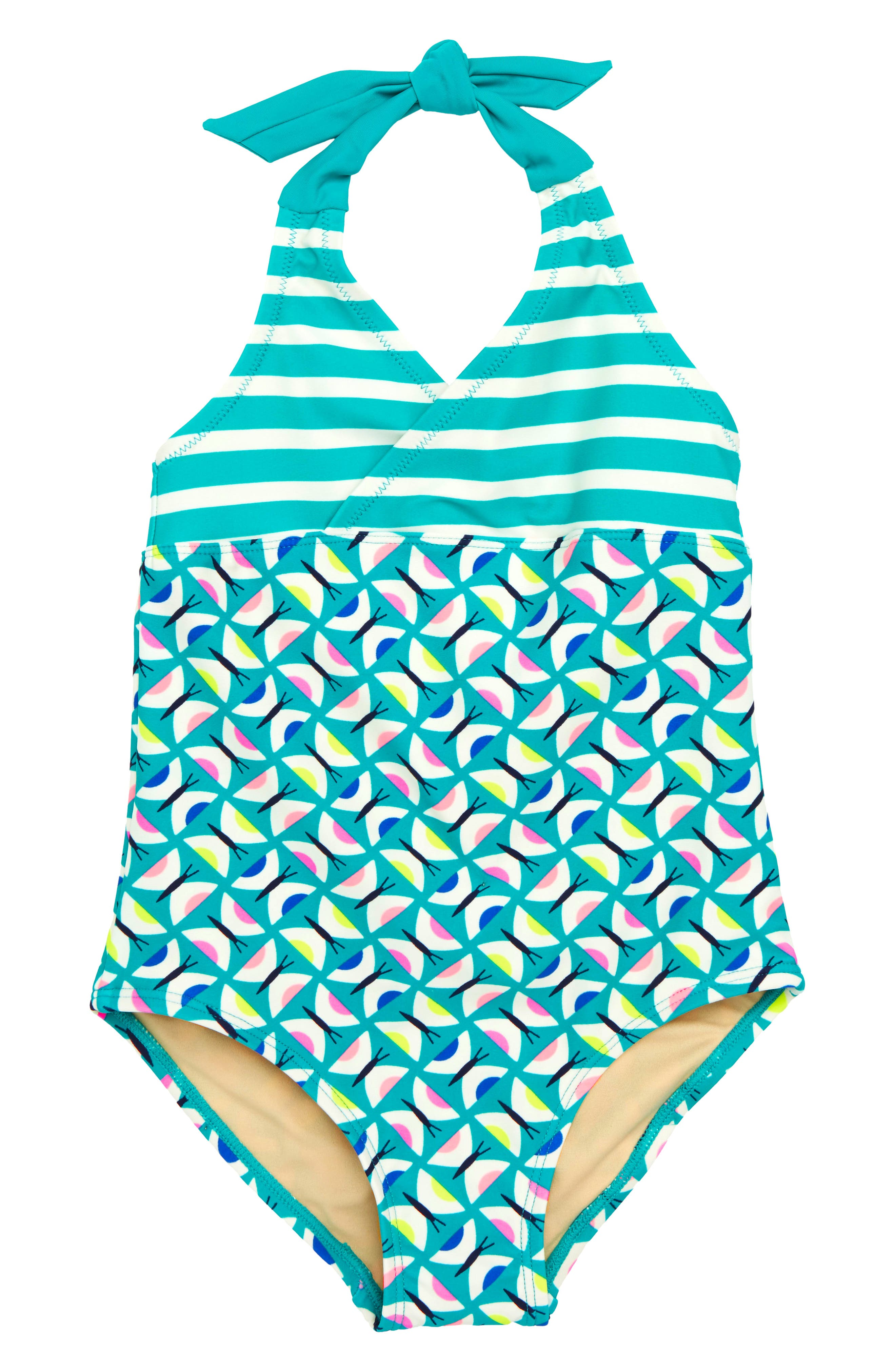 Halter One-Piece Swimsuit,                         Main,                         color,