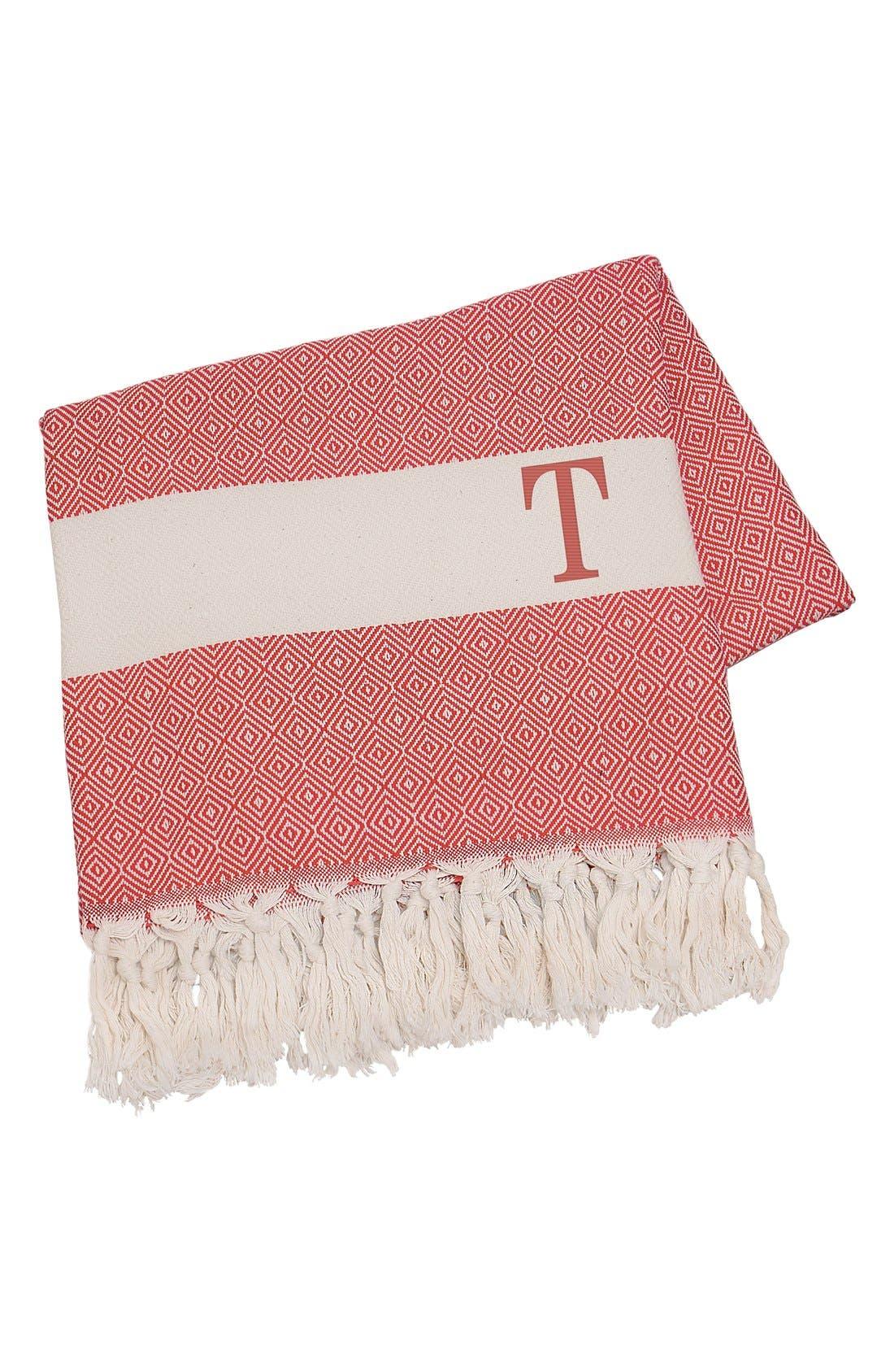 Monogram Turkish Cotton Throw,                             Main thumbnail 102, color,