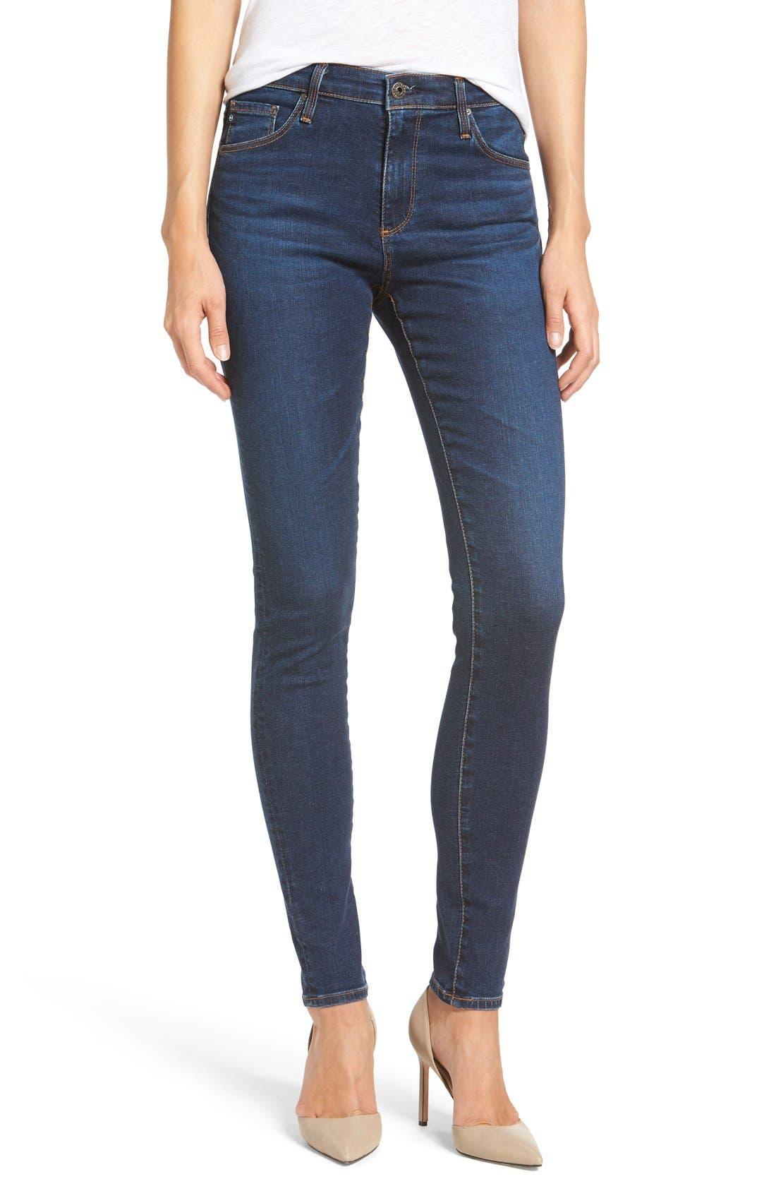 'The Farrah' High Rise Skinny Jeans,                             Main thumbnail 10, color,