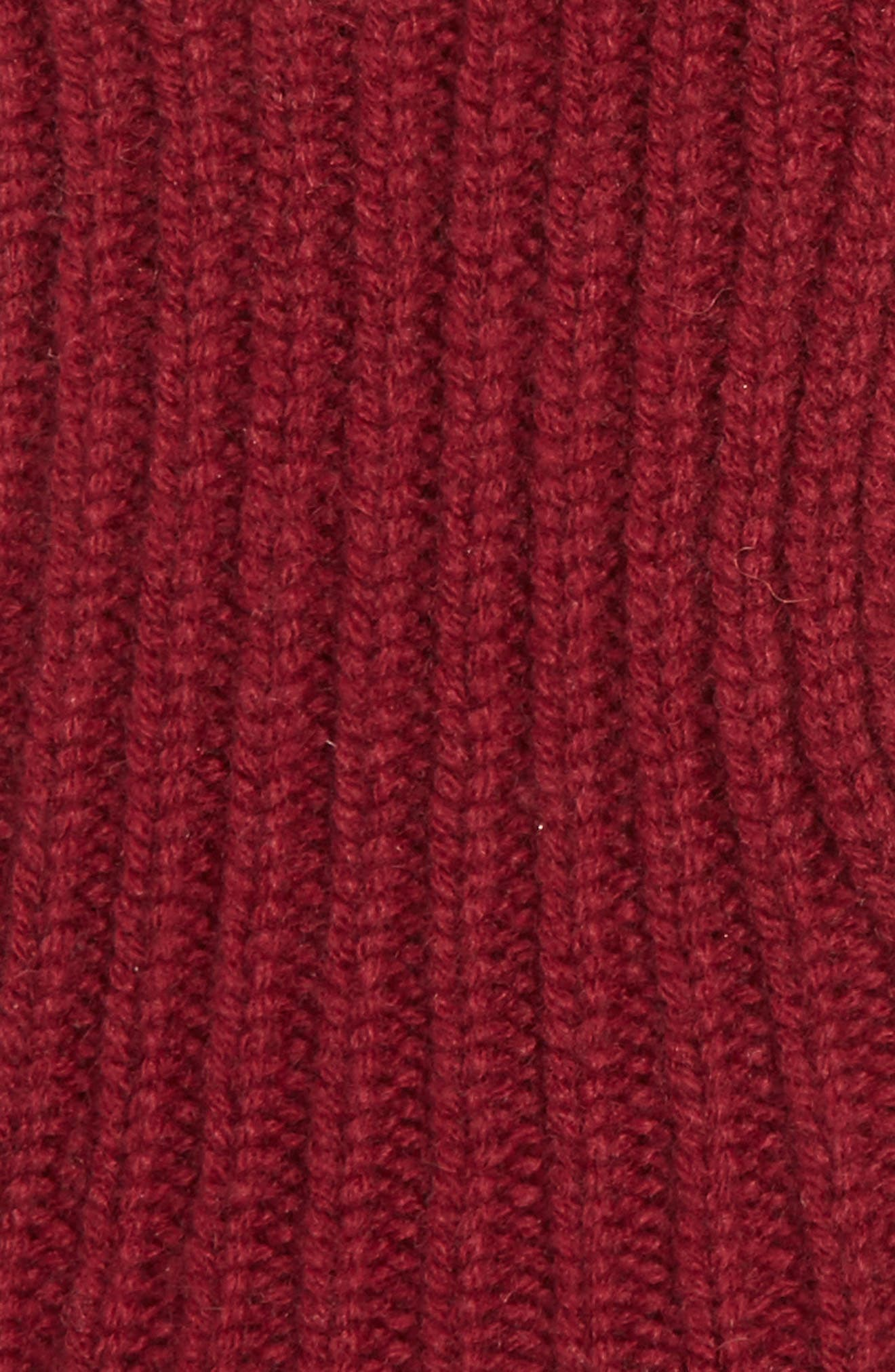 Guanti Wool & Cashmere Long Fingerless Gloves,                             Alternate thumbnail 3, color,                             BURGUNDY