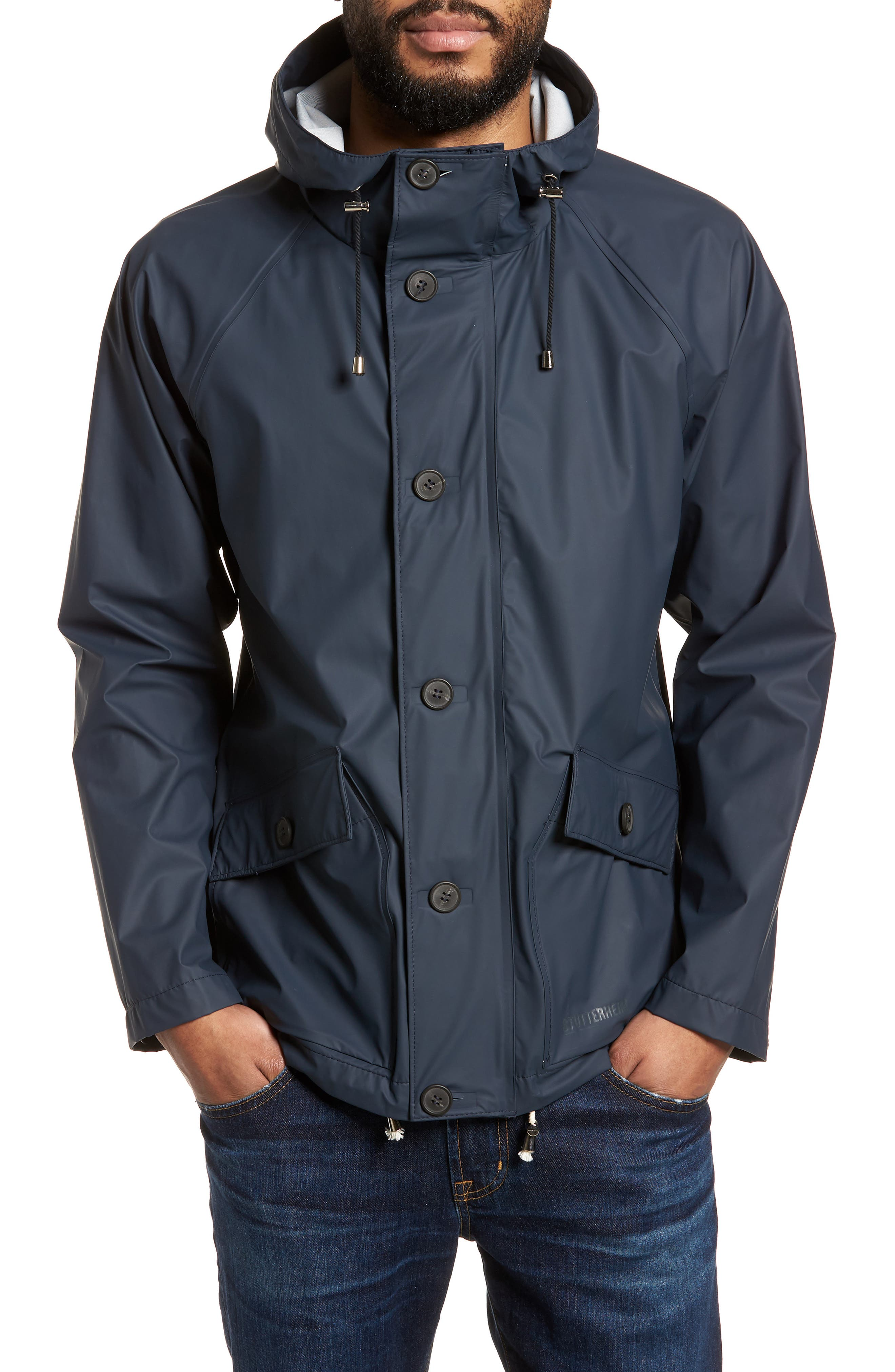 Stenhamra Classic Fit Jacket,                         Main,                         color, NAVY