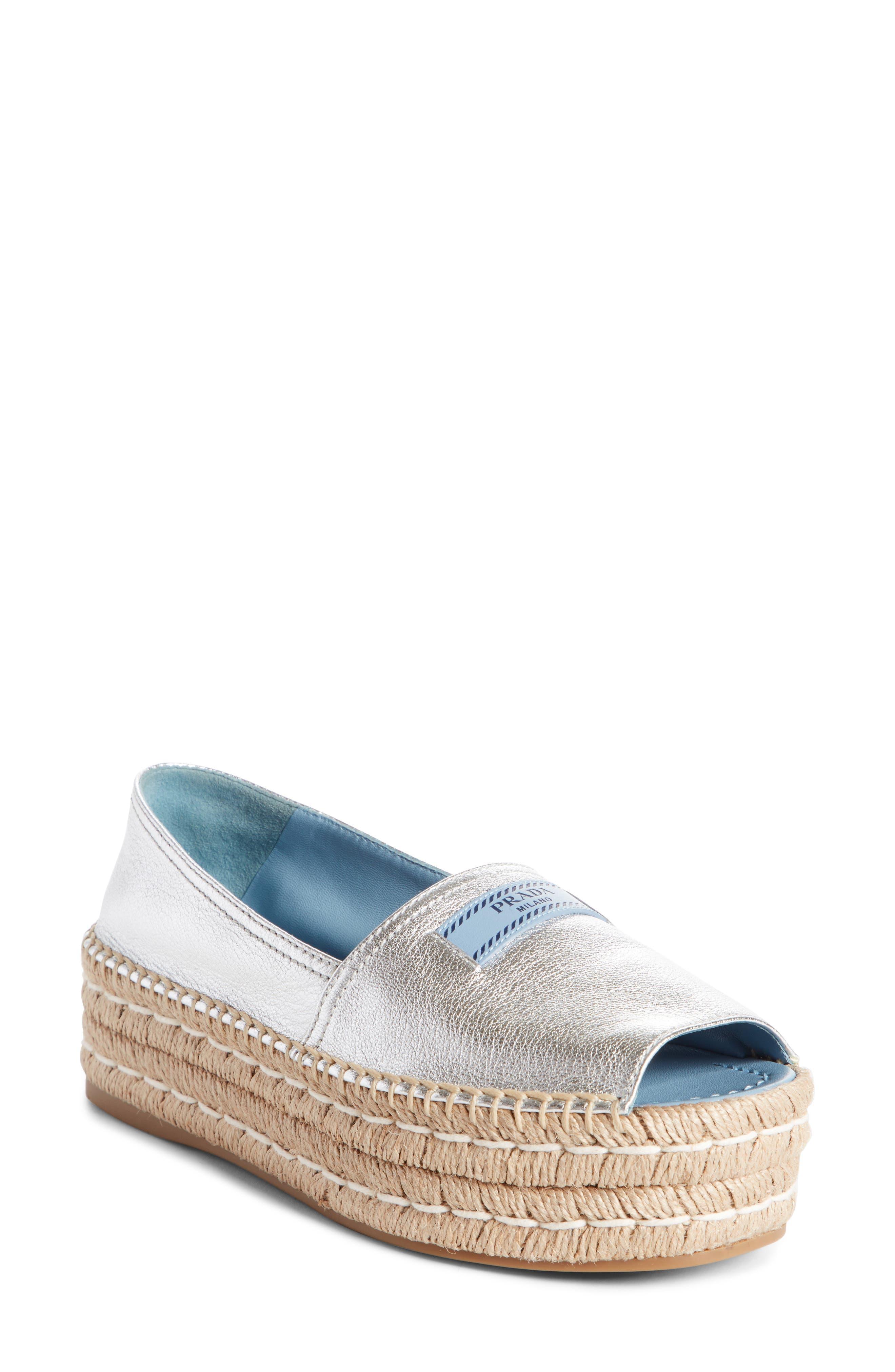 Peep Toe Flatform Espadrille,                         Main,                         color,