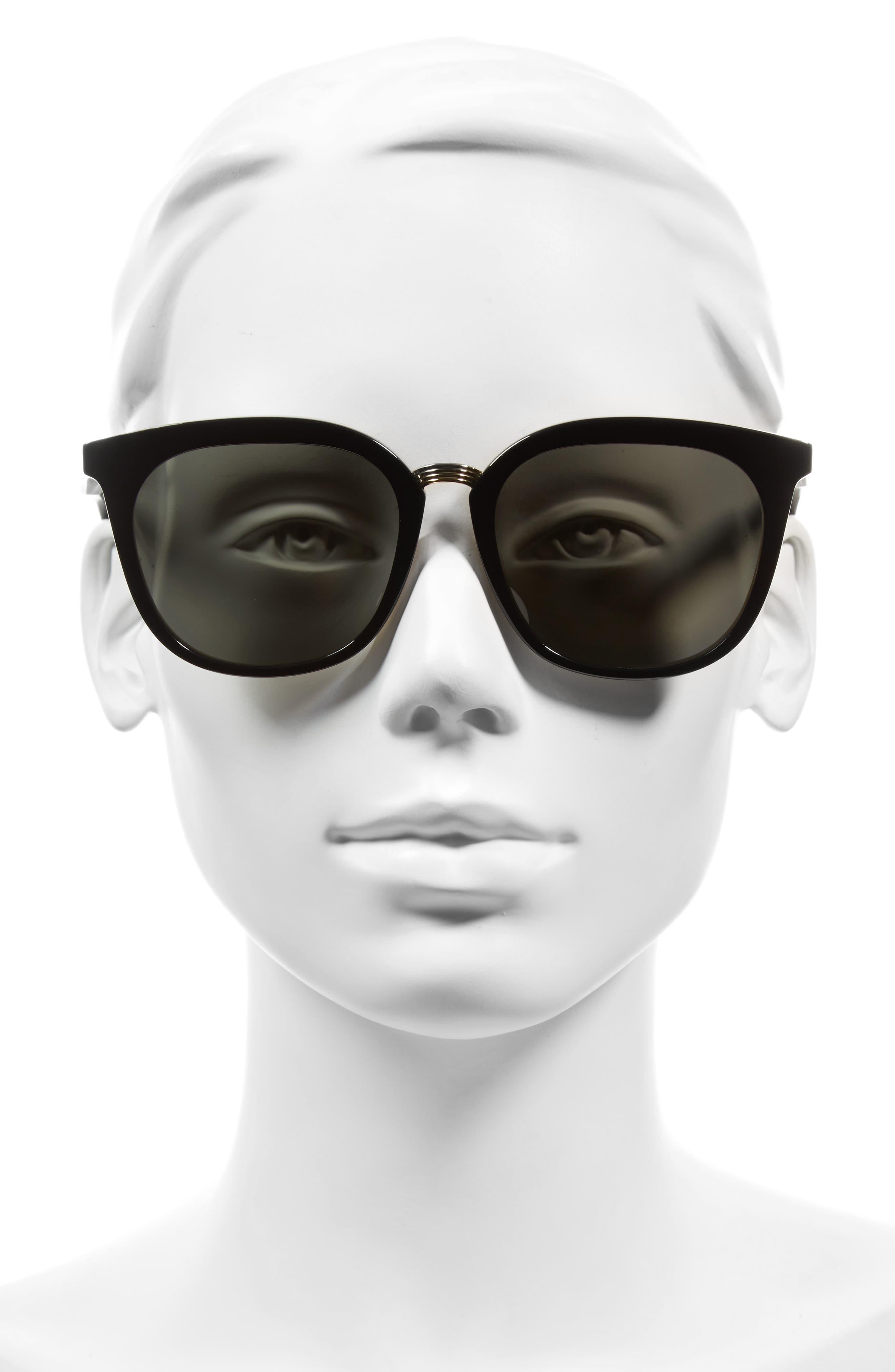 Combination Classic 56mm Sunglasses,                             Alternate thumbnail 2, color,                             LIGHT HORN/ BLACK