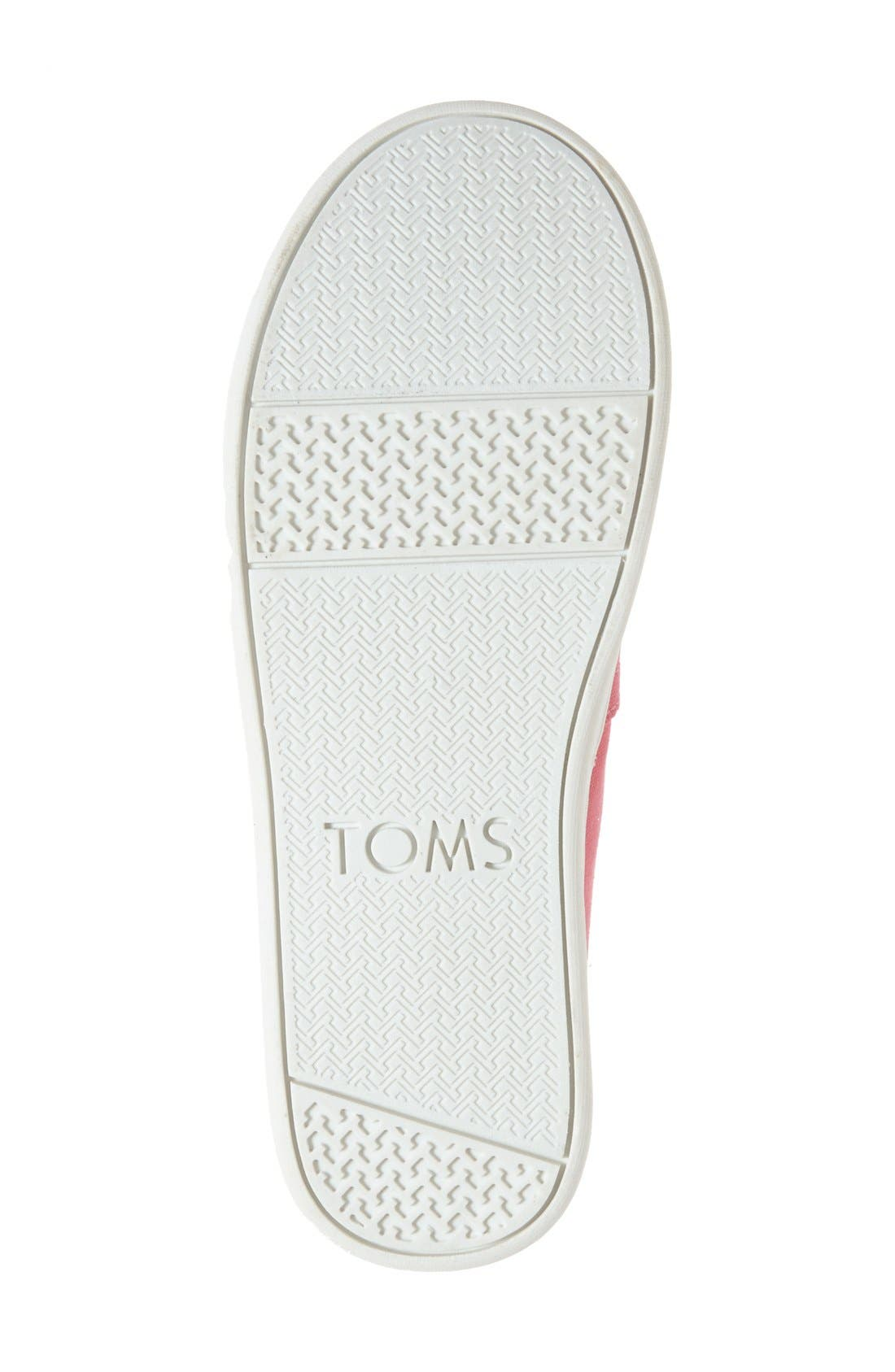 'Classic - Youth' Slip-On,                             Alternate thumbnail 4, color,                             MEDIUM PINK