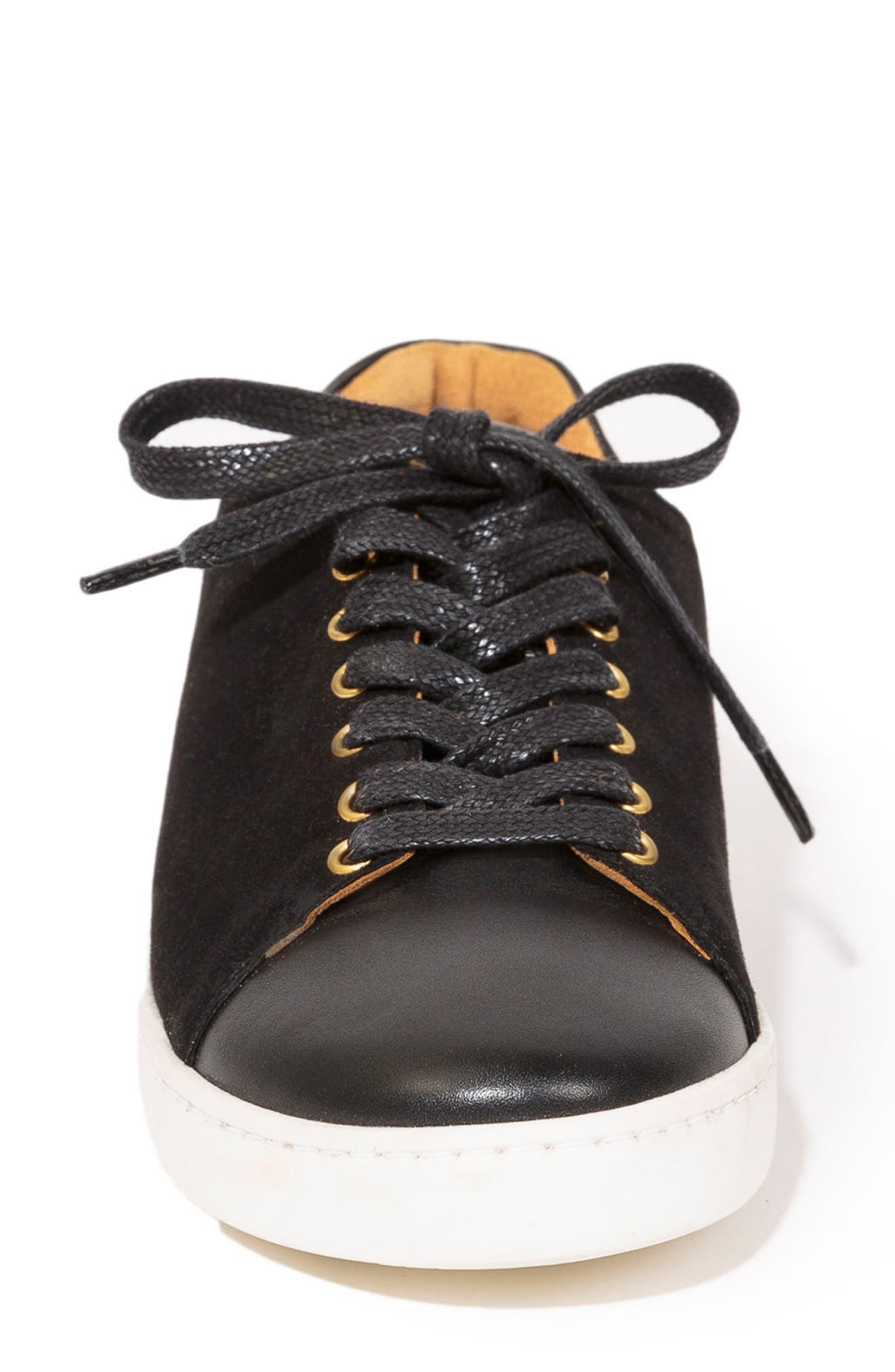 Jack Sneaker,                             Alternate thumbnail 3, color,                             BLACK SUEDE