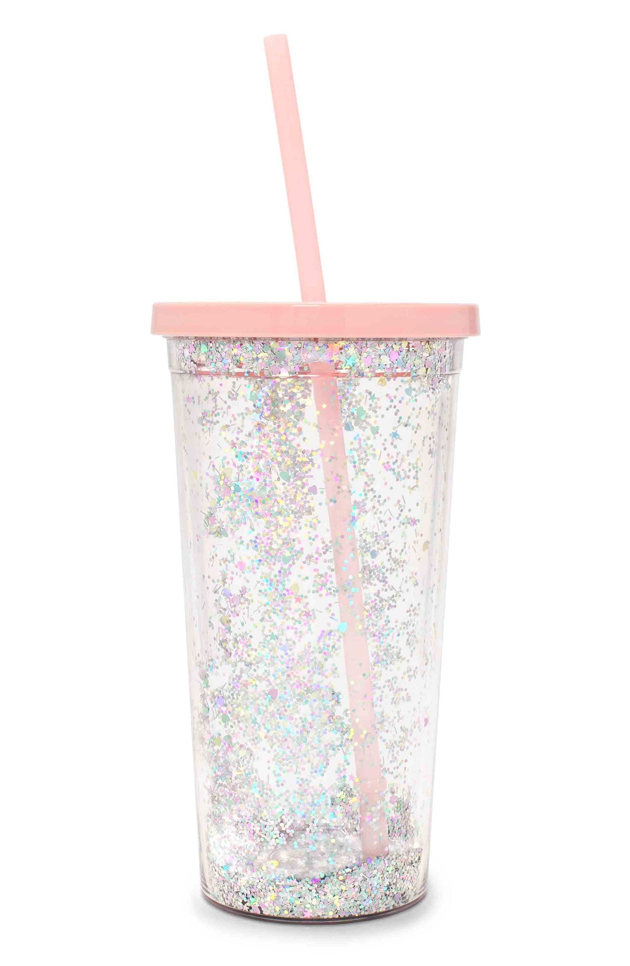Glitter Sip Sip Travel Tumbler,                         Main,                         color,