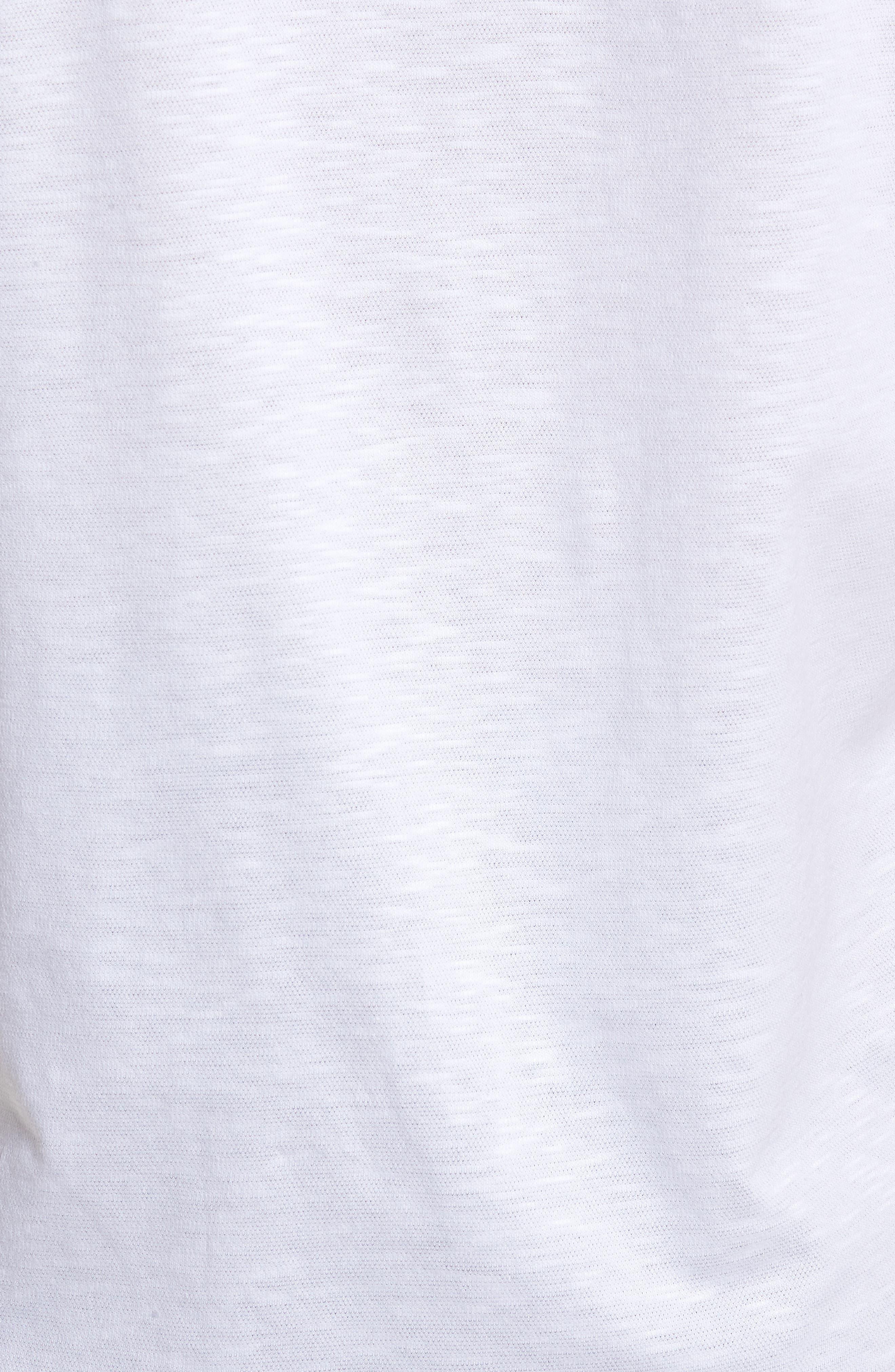 Slim Fit Flame Knit Sport Shirt,                             Alternate thumbnail 5, color,                             WHITE