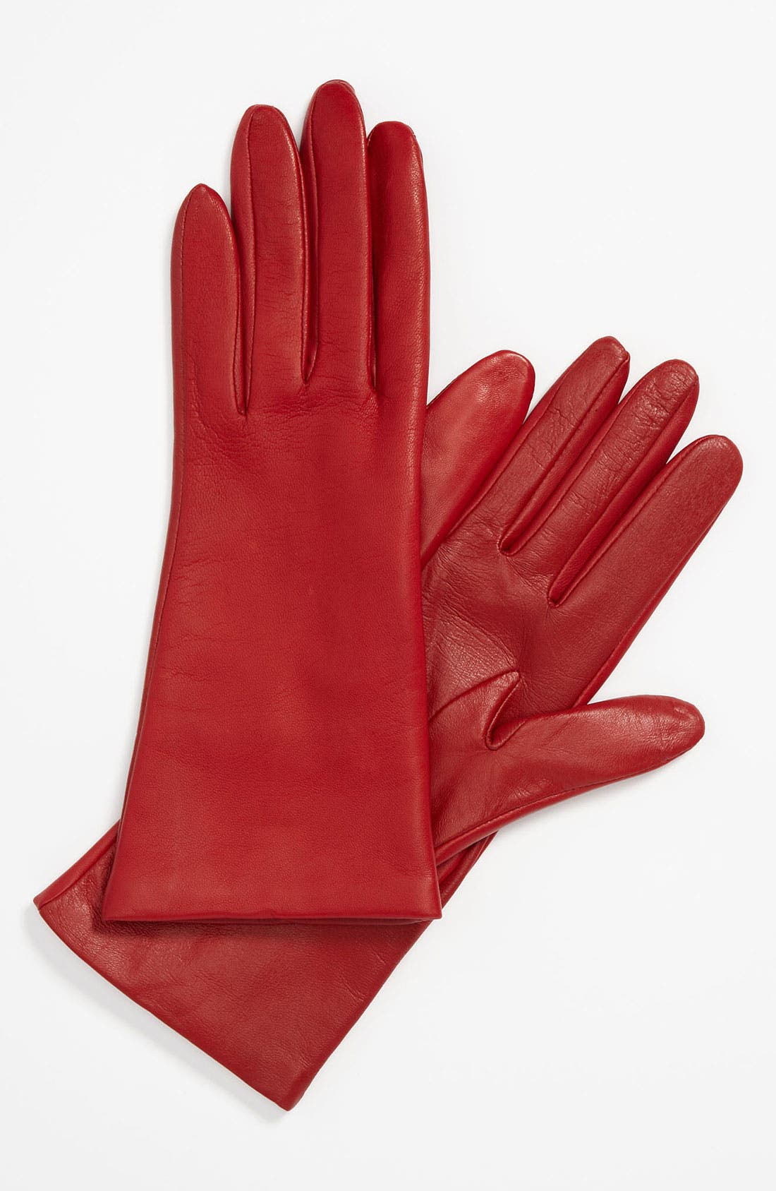 'Basic Tech' Cashmere Lined Leather Gloves,                             Main thumbnail 6, color,