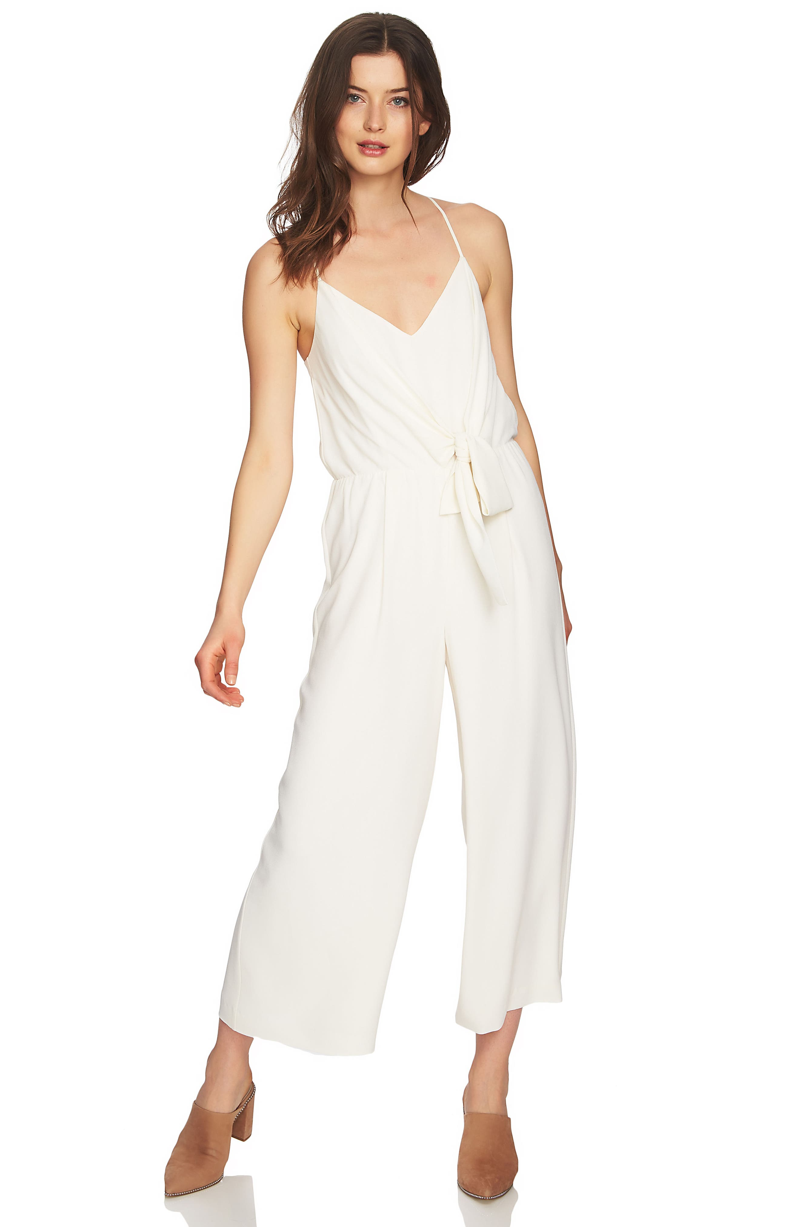 Tie Waist Racerback Jumpsuit,                             Alternate thumbnail 3, color,                             108