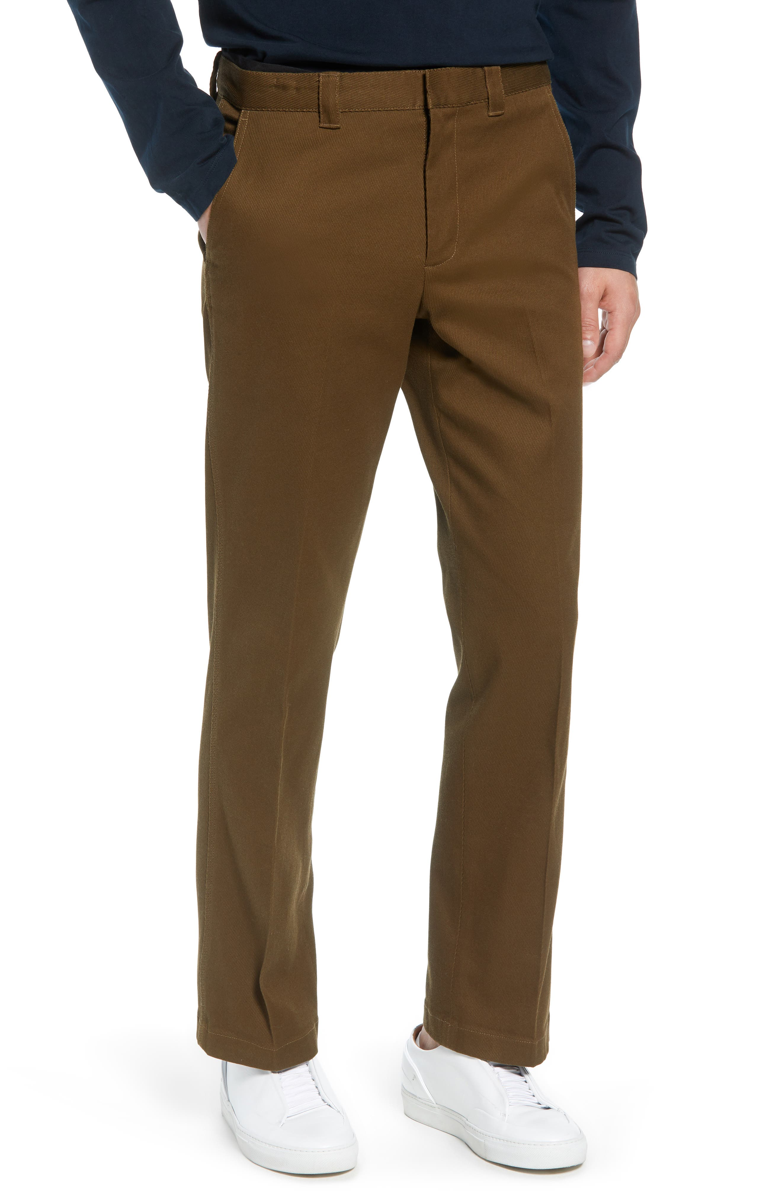 Stay Pressed Classic Fit Pants,                             Main thumbnail 1, color,                             INFANTRY GREEN
