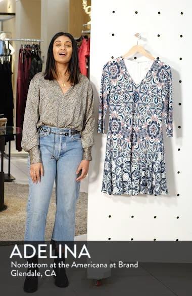 Print Knit A-Line Dress, sales video thumbnail