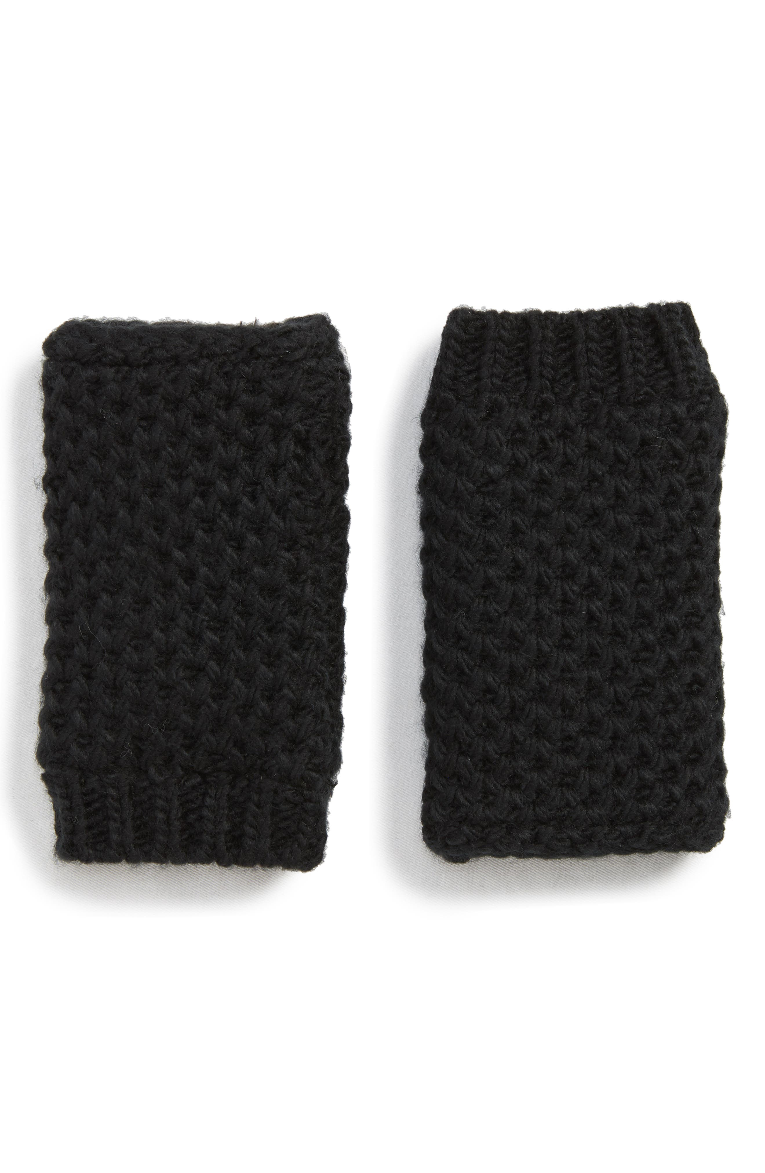 Faux Fur Lined Hand Warmers,                             Main thumbnail 1, color,                             001
