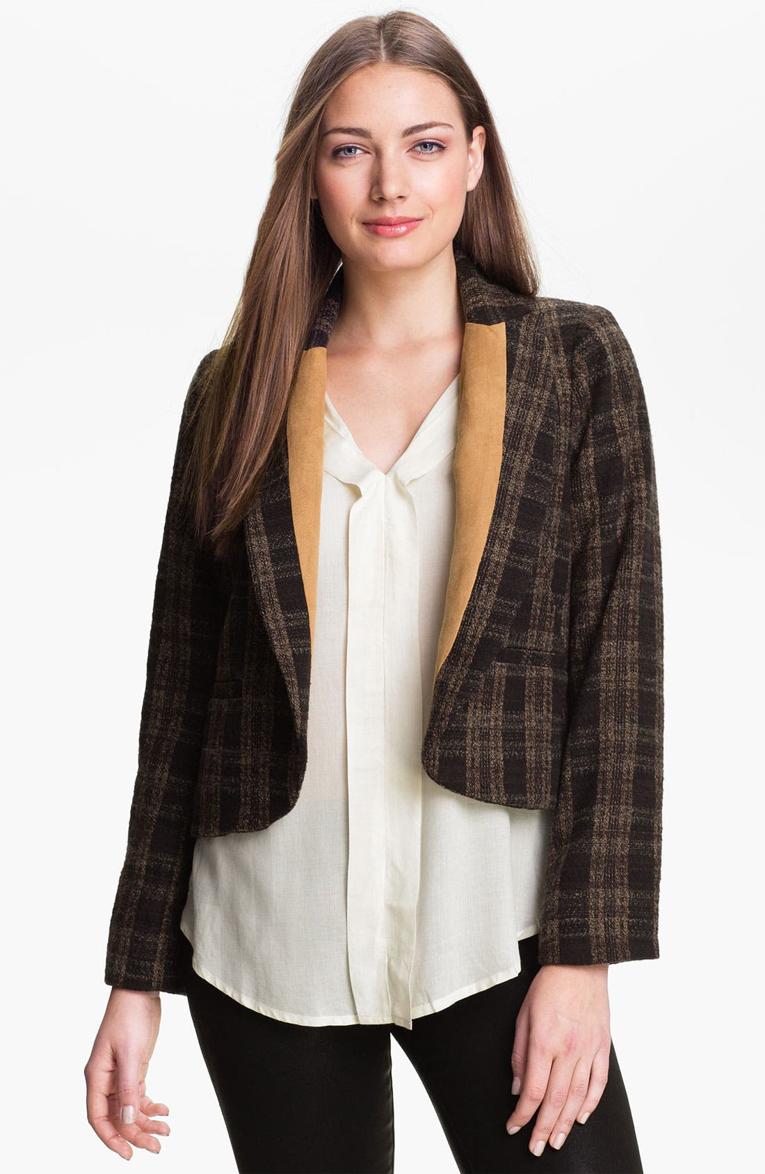 Contrast Lapel Jacket,                         Main,                         color, 300
