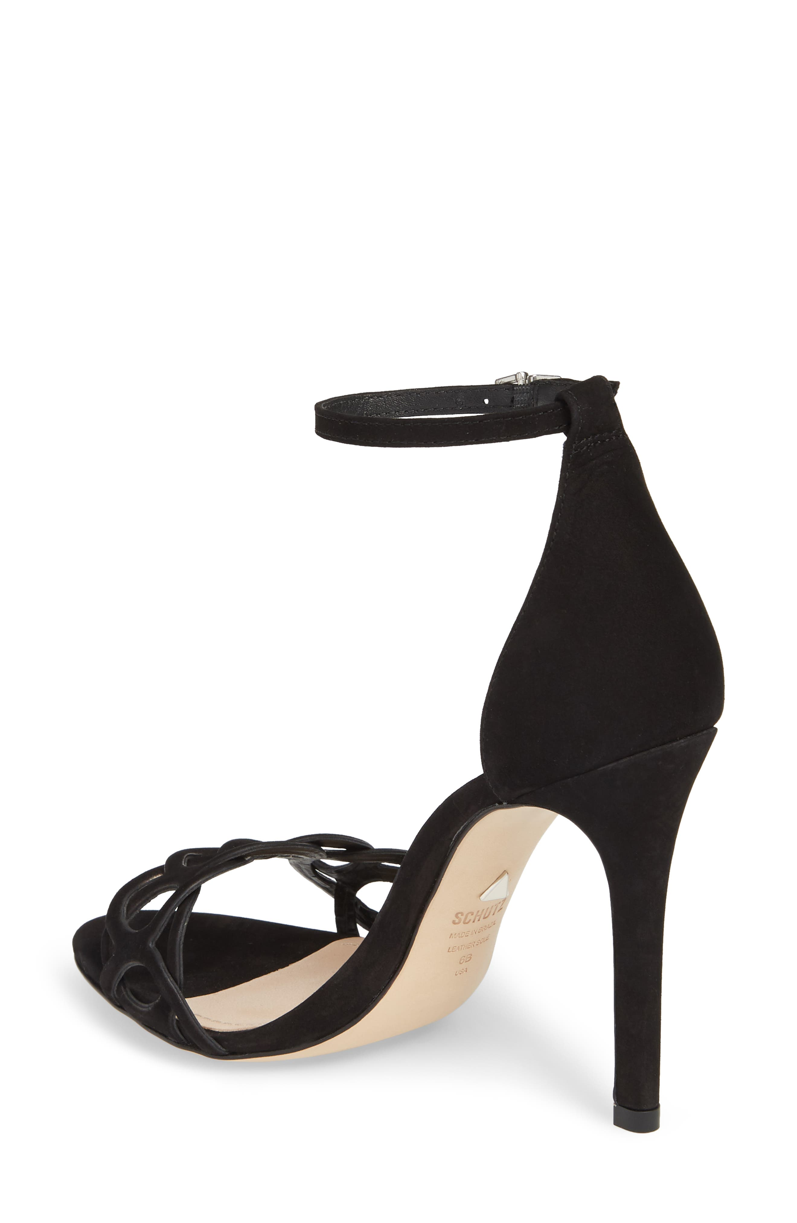 Sthefany Ankle Strap Sandal,                             Alternate thumbnail 2, color,                             BLACK LEATHER