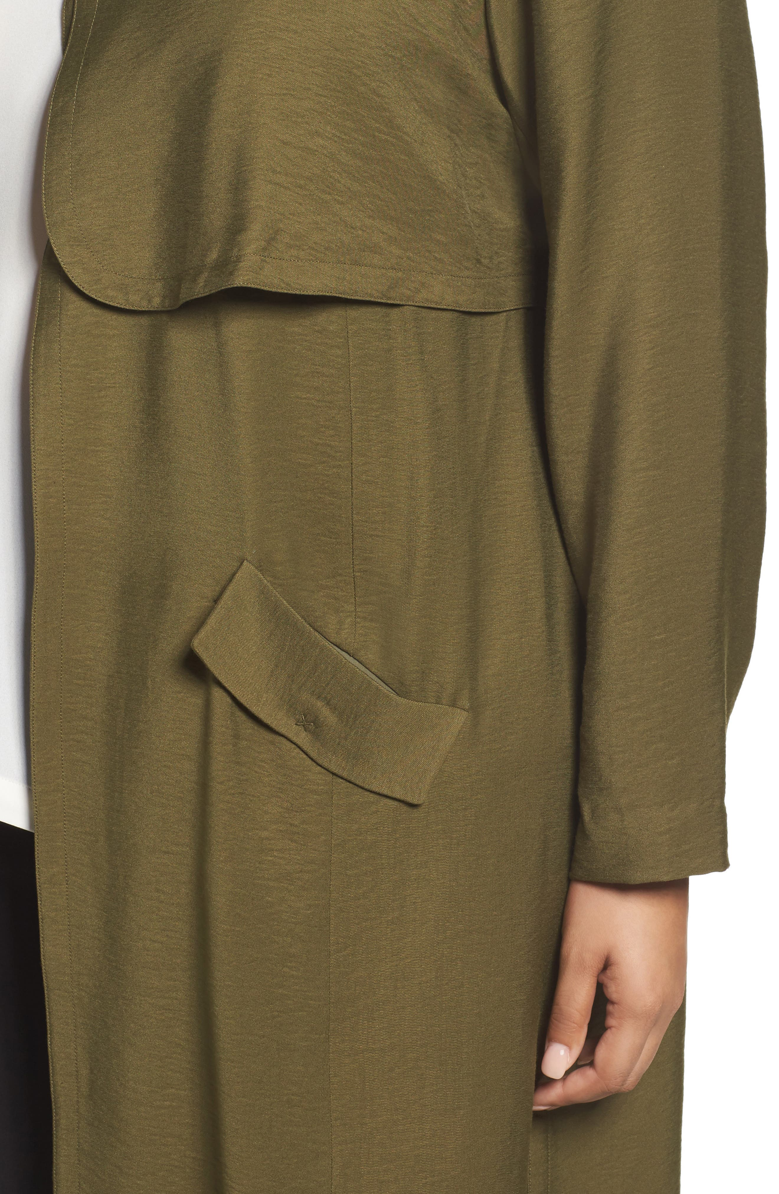 Long Open Front Trench Coat,                             Alternate thumbnail 14, color,