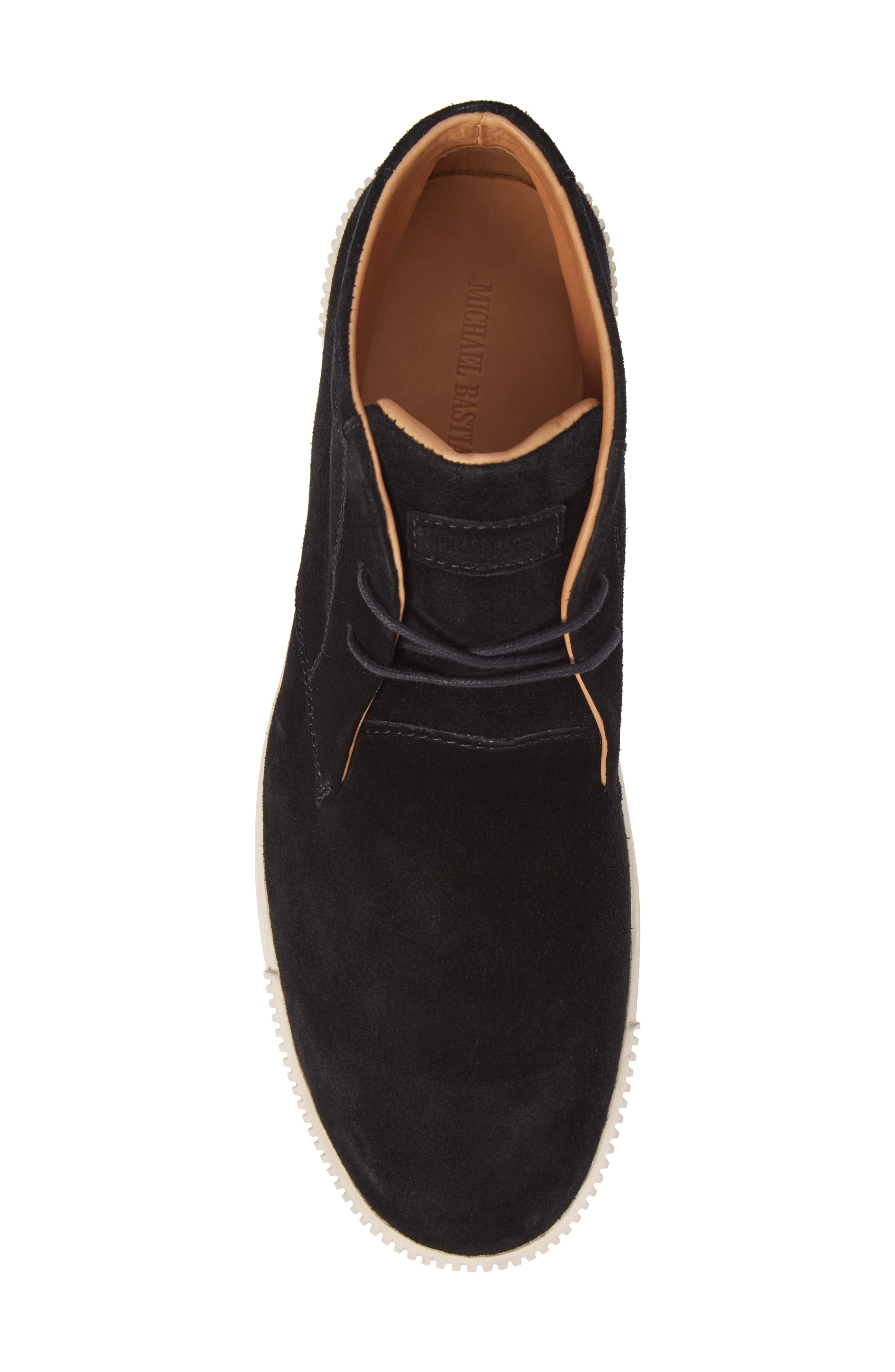 Lyons Chukka Sneaker,                             Alternate thumbnail 5, color,                             BLACK SUEDE