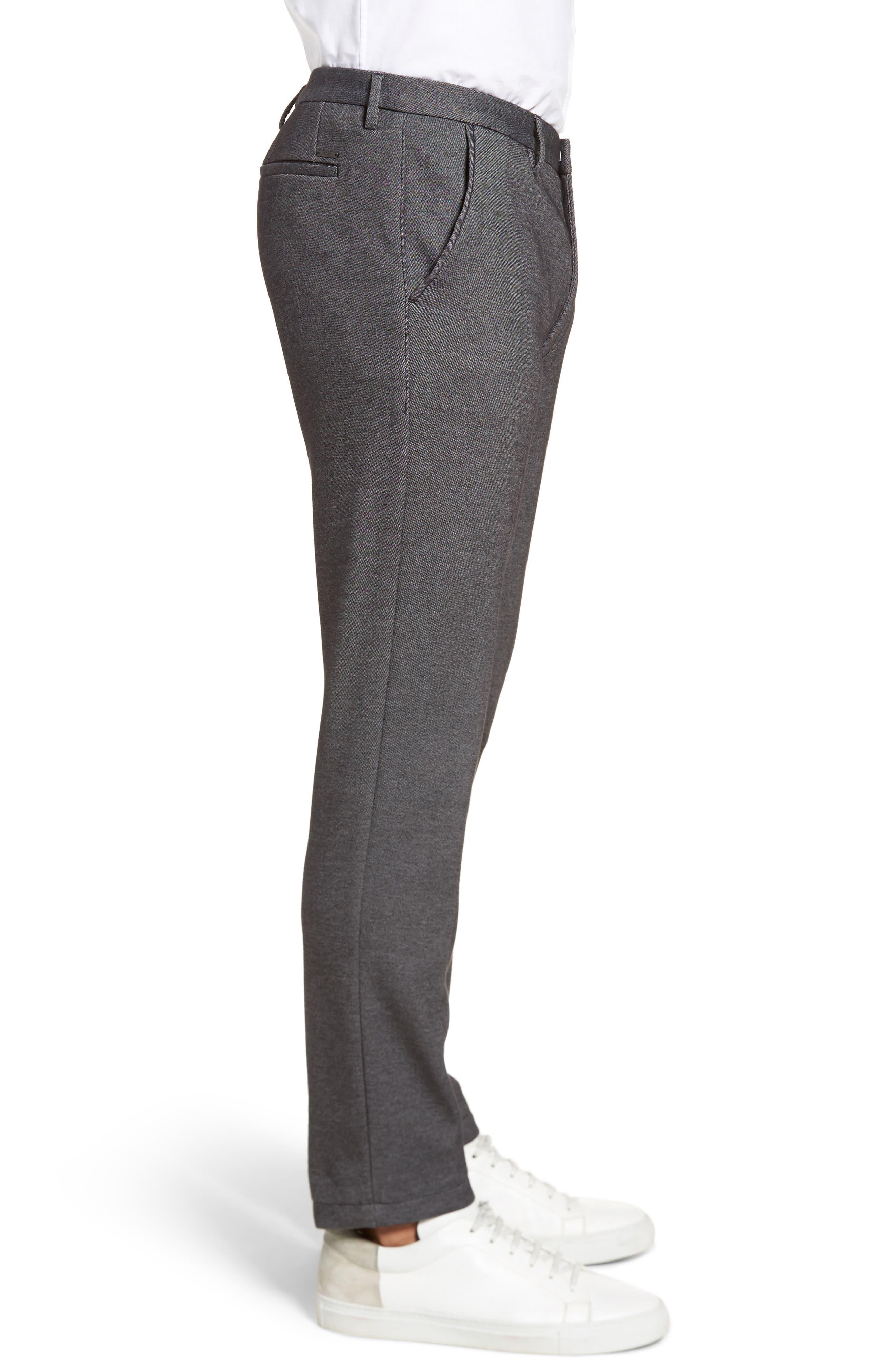Kaito Melange Cotton Blend Pants,                             Alternate thumbnail 3, color,                             030