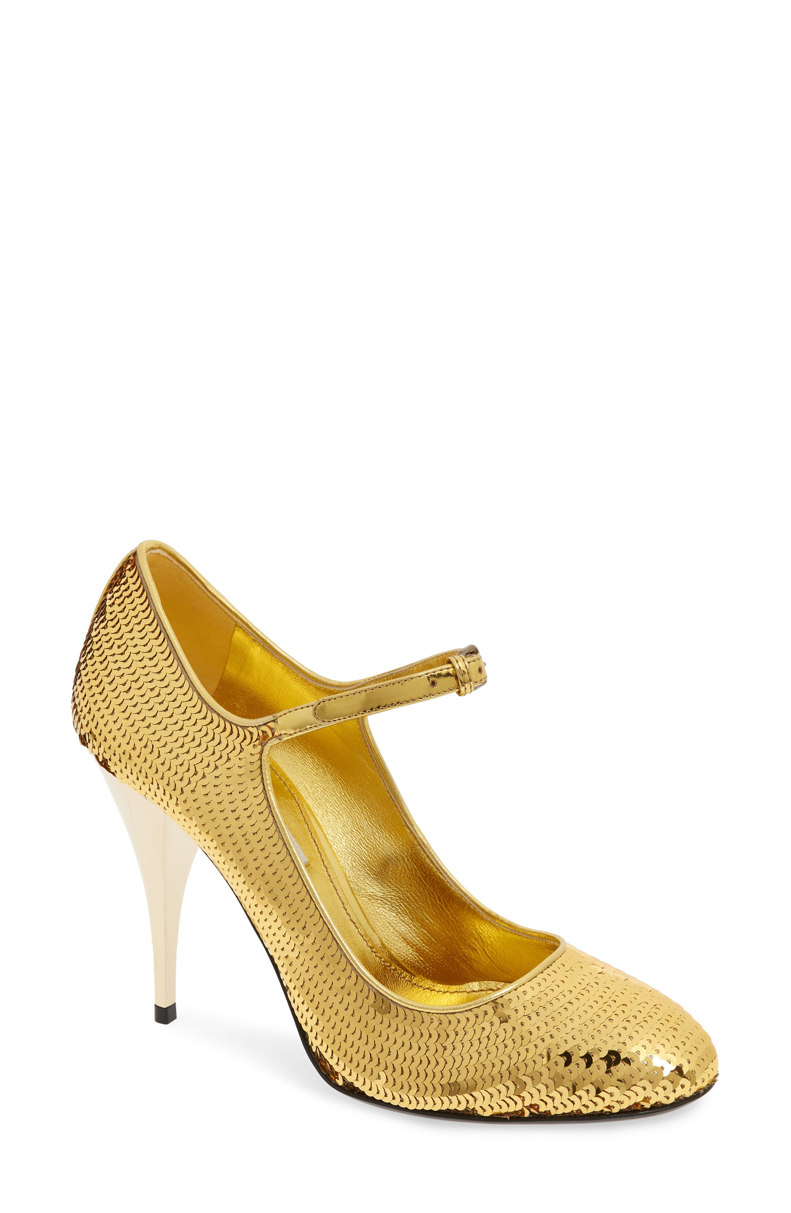 Sequin Mary Jane Pump,                         Main,                         color, GOLD