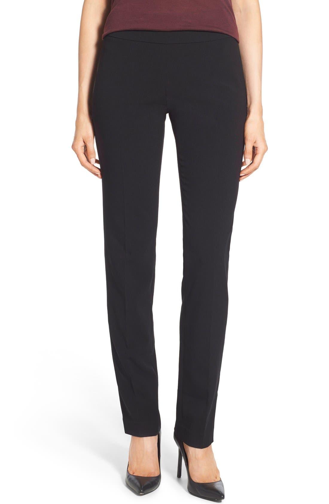 Stretch Knit Slim Leg Pants,                         Main,                         color, 004