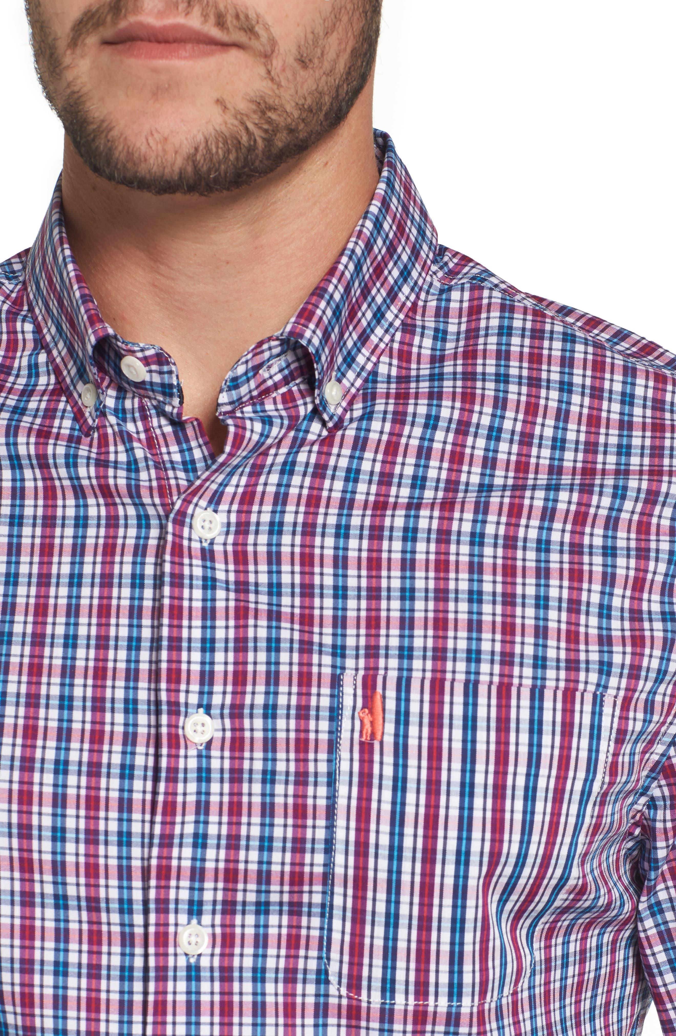 Parklan Check Sport Shirt,                             Alternate thumbnail 4, color,                             514