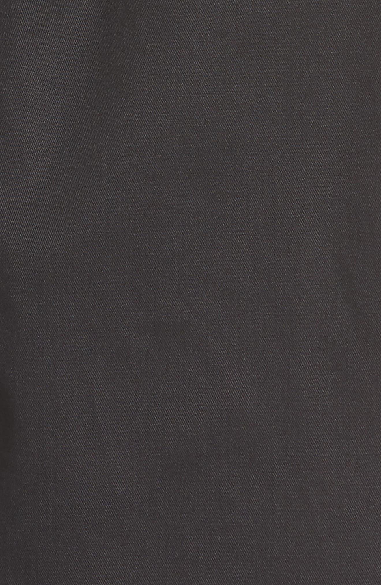 Paperbag Waist Wide Leg Pants,                             Alternate thumbnail 5, color,                             001