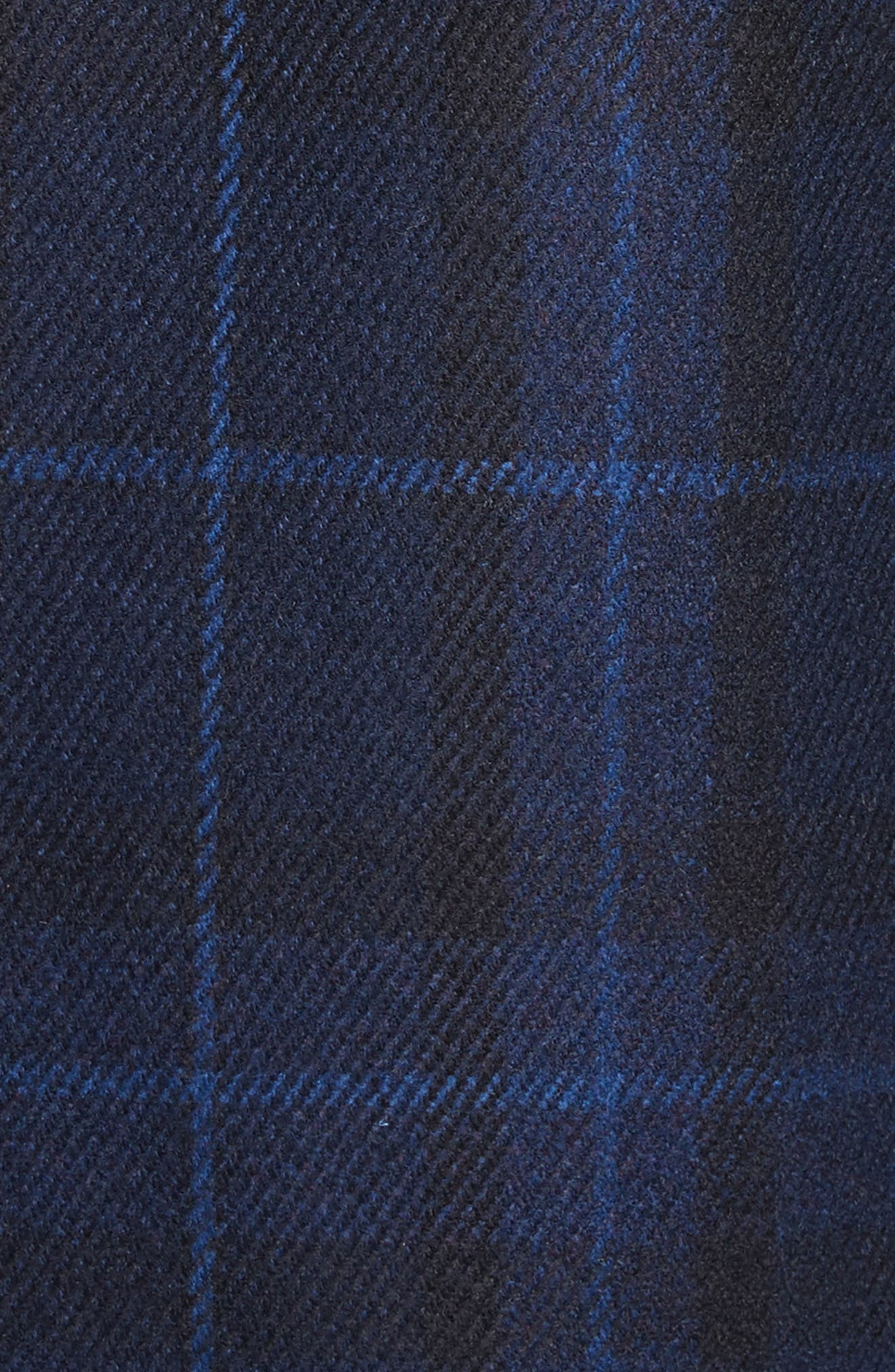Classic Fit Plaid Wool & Cashmere Blend Topcoat,                             Alternate thumbnail 5, color,                             410
