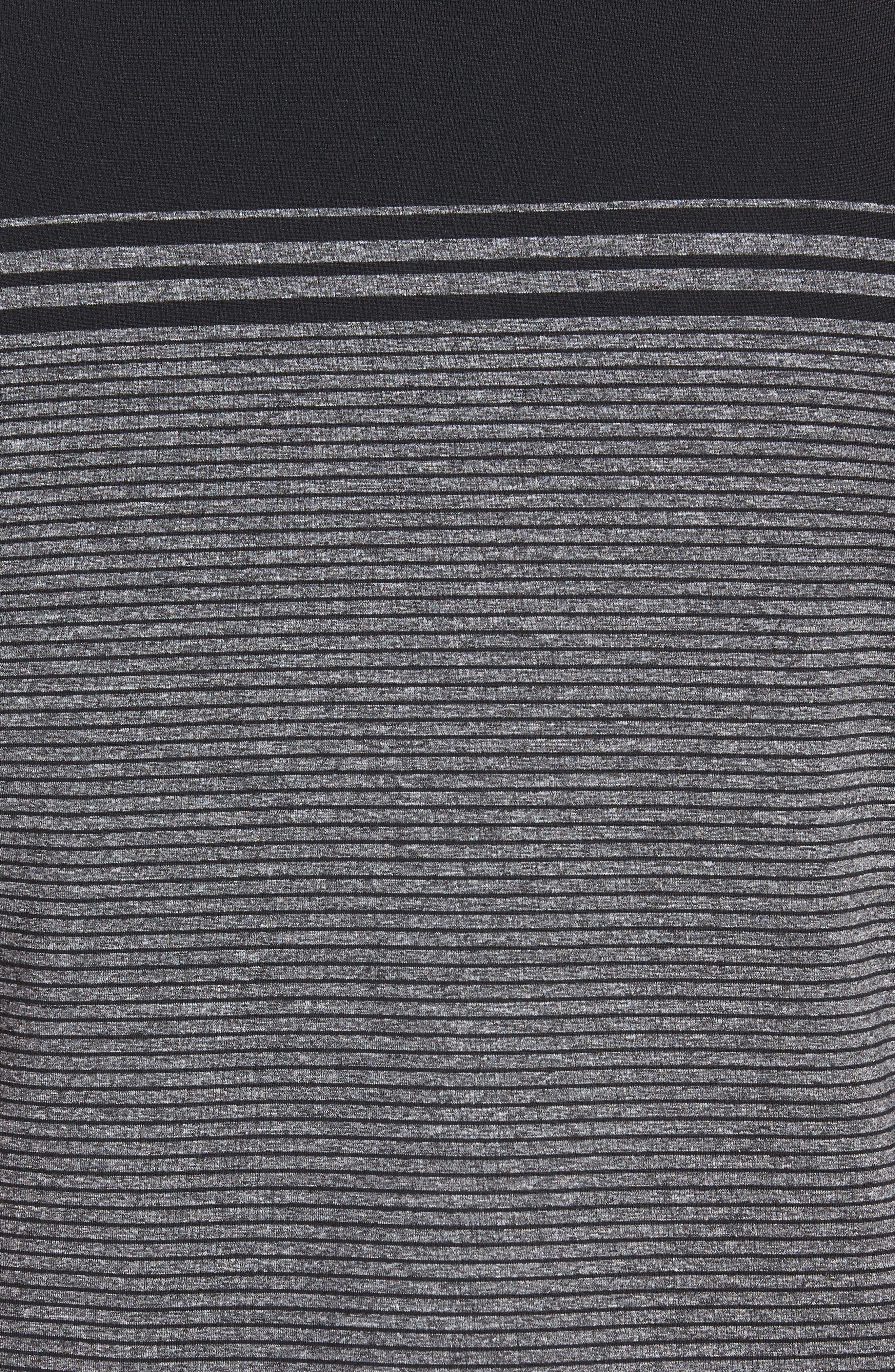 R18 Tech Torque Stripe Golf Polo,                             Alternate thumbnail 5, color,                             001