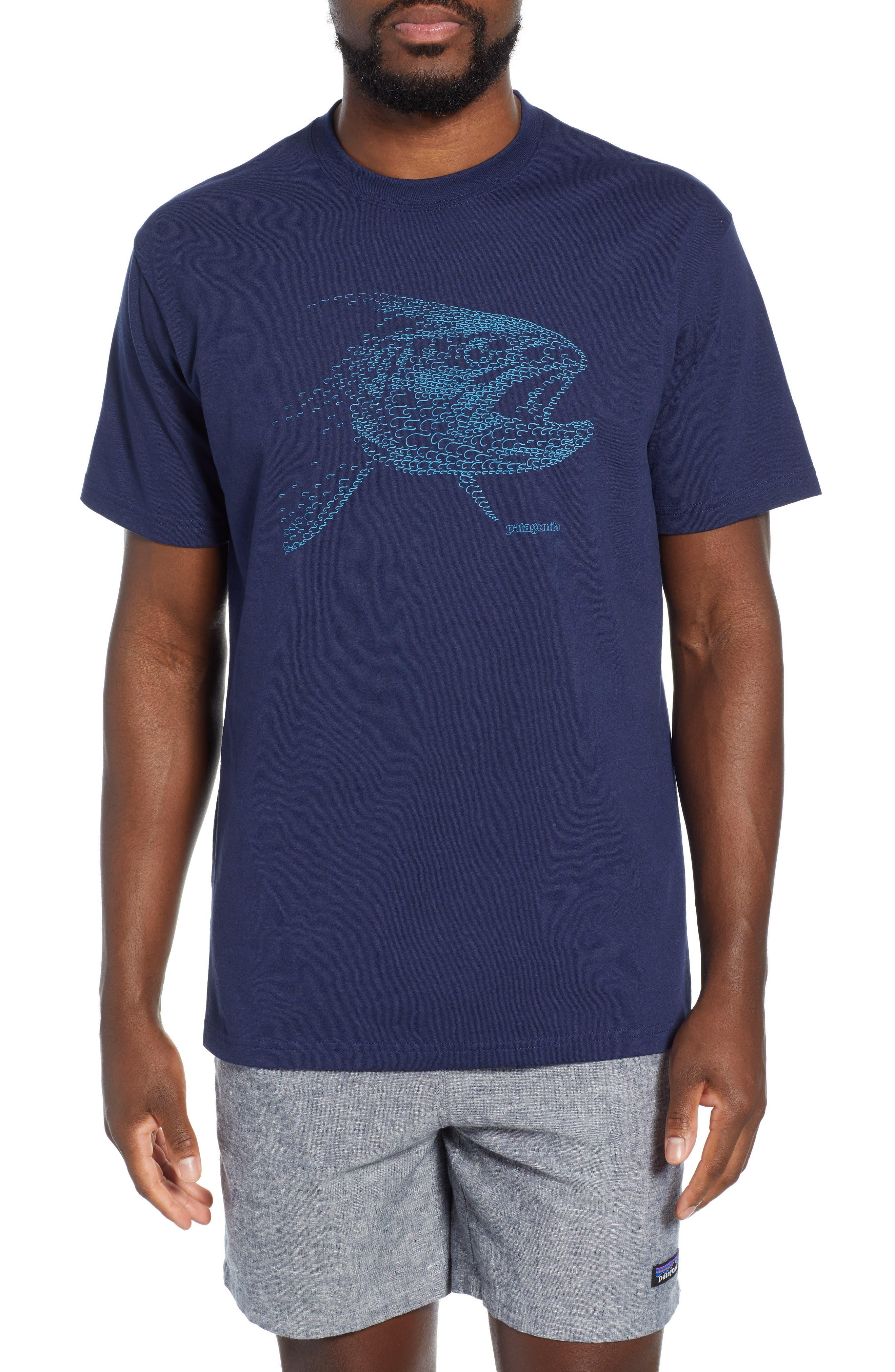 Patagonia Hooked Head Responsibili-Tee T-Shirt, Blue