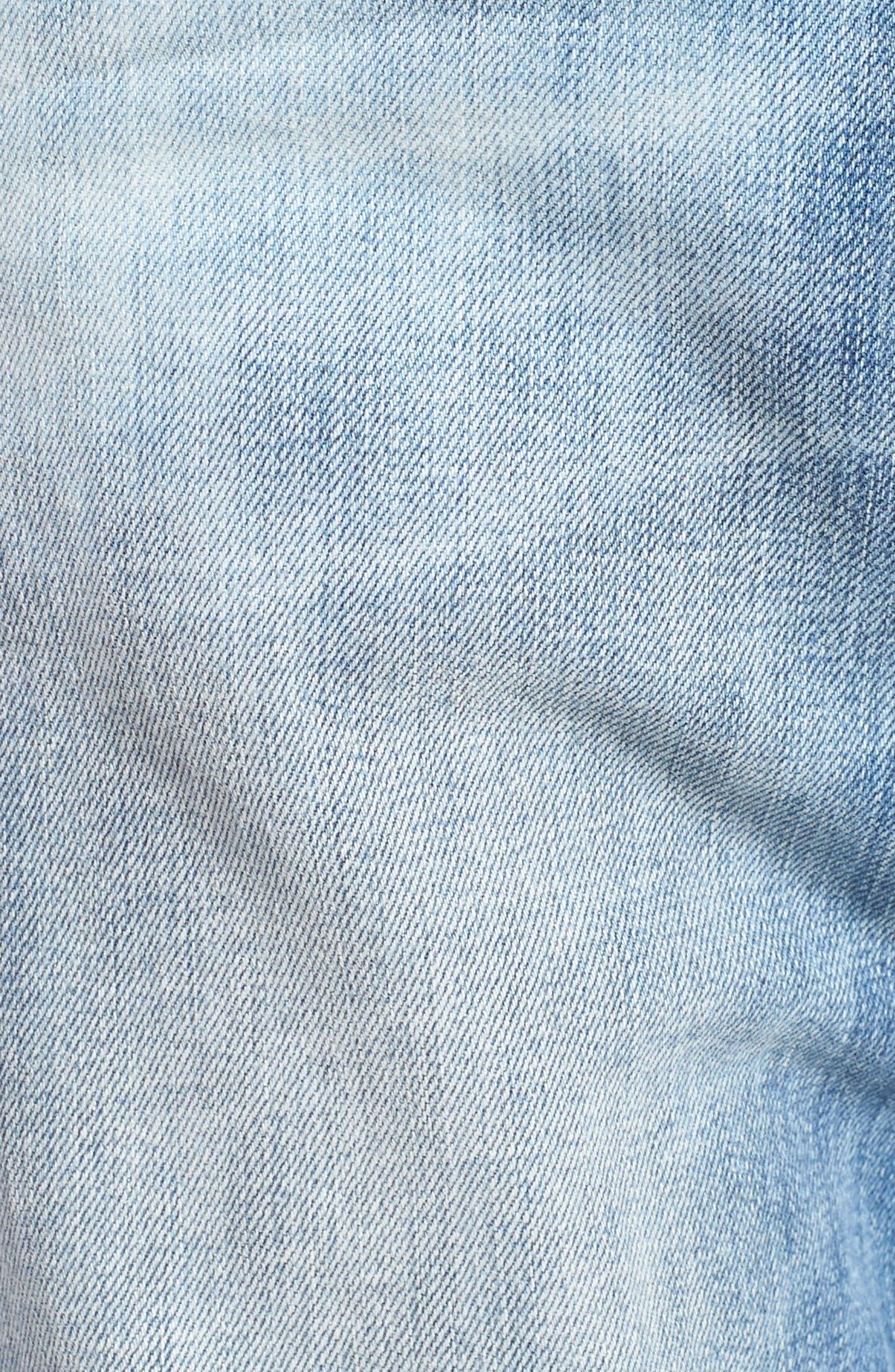 Blinder Skinny Fit Moto Jeans,                             Alternate thumbnail 5, color,                             THRASH
