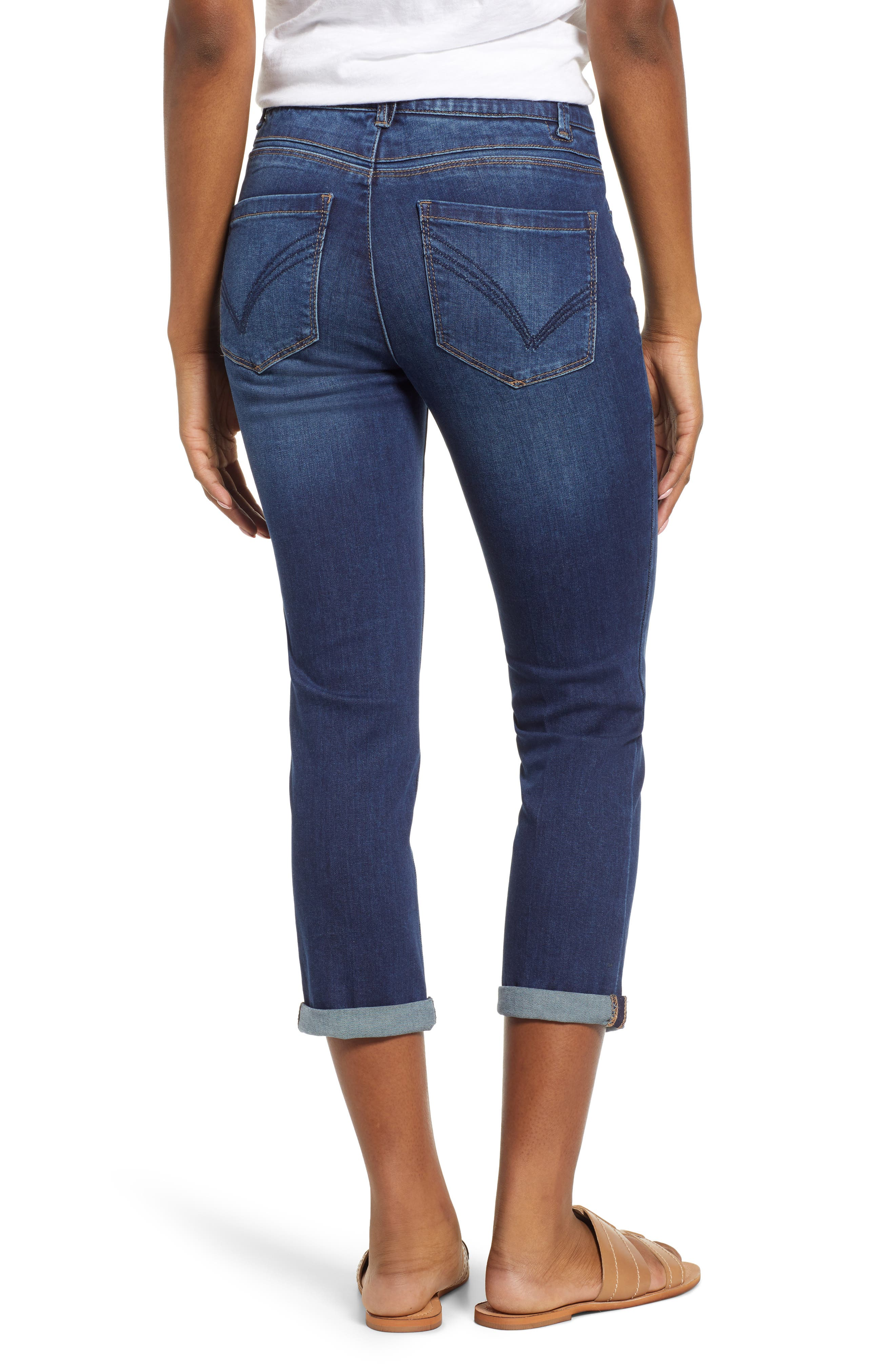 Luxe Touch High Waist Crop Skinny Jeans,                             Alternate thumbnail 2, color,                             BLUE