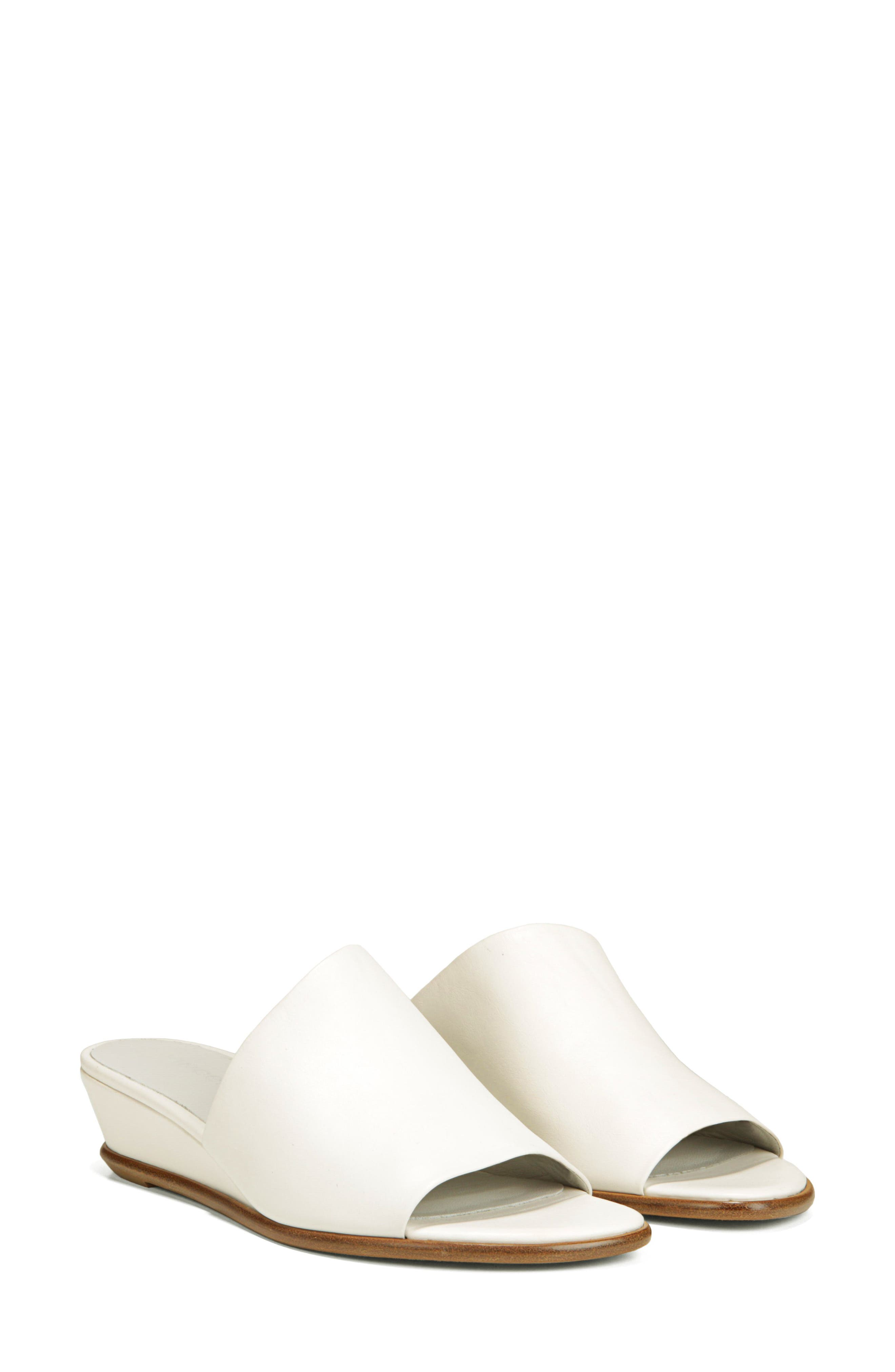 VINCE,                             Duvall Asymmetrical Wedge Sandal,                             Alternate thumbnail 8, color,                             OFF WHITE