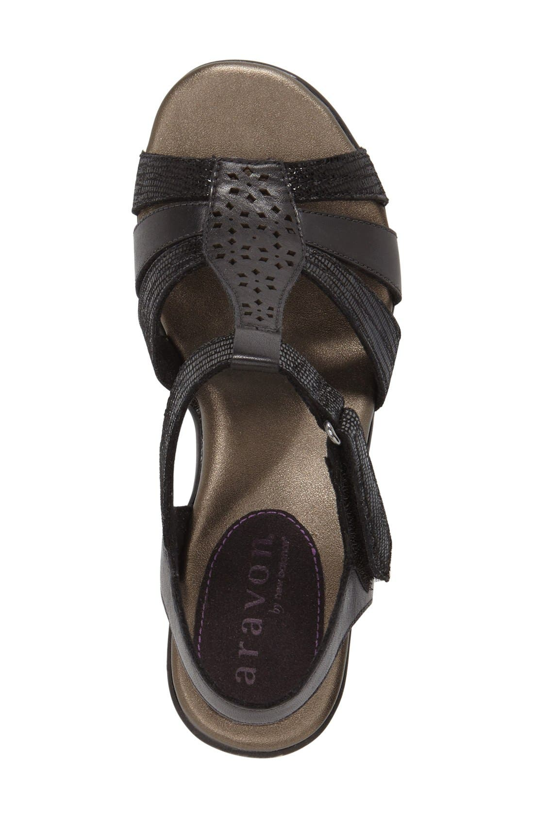 'Mary' T-Strap Sandal,                             Alternate thumbnail 4, color,                             001