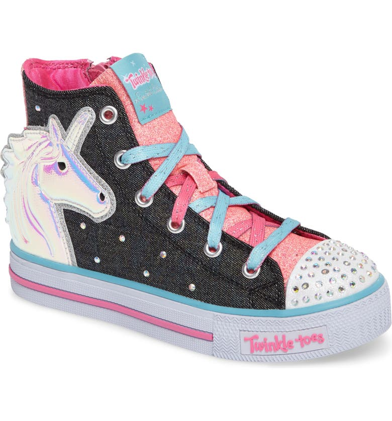 080c24e99bb4 SKECHERS Twinkle Toes Shuffles Prancing Pretty Light-Up Sneaker ...