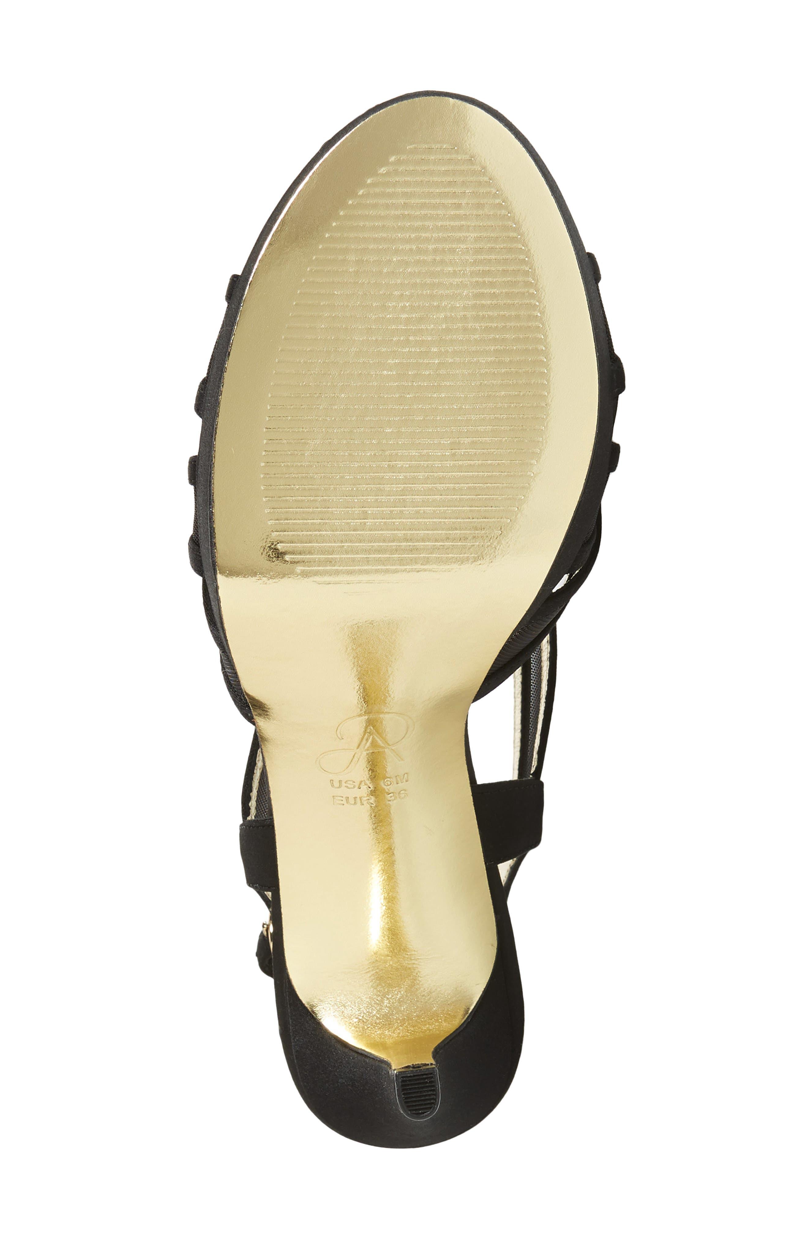 Adri Platform Sandal,                             Alternate thumbnail 6, color,                             BLACK SATIN