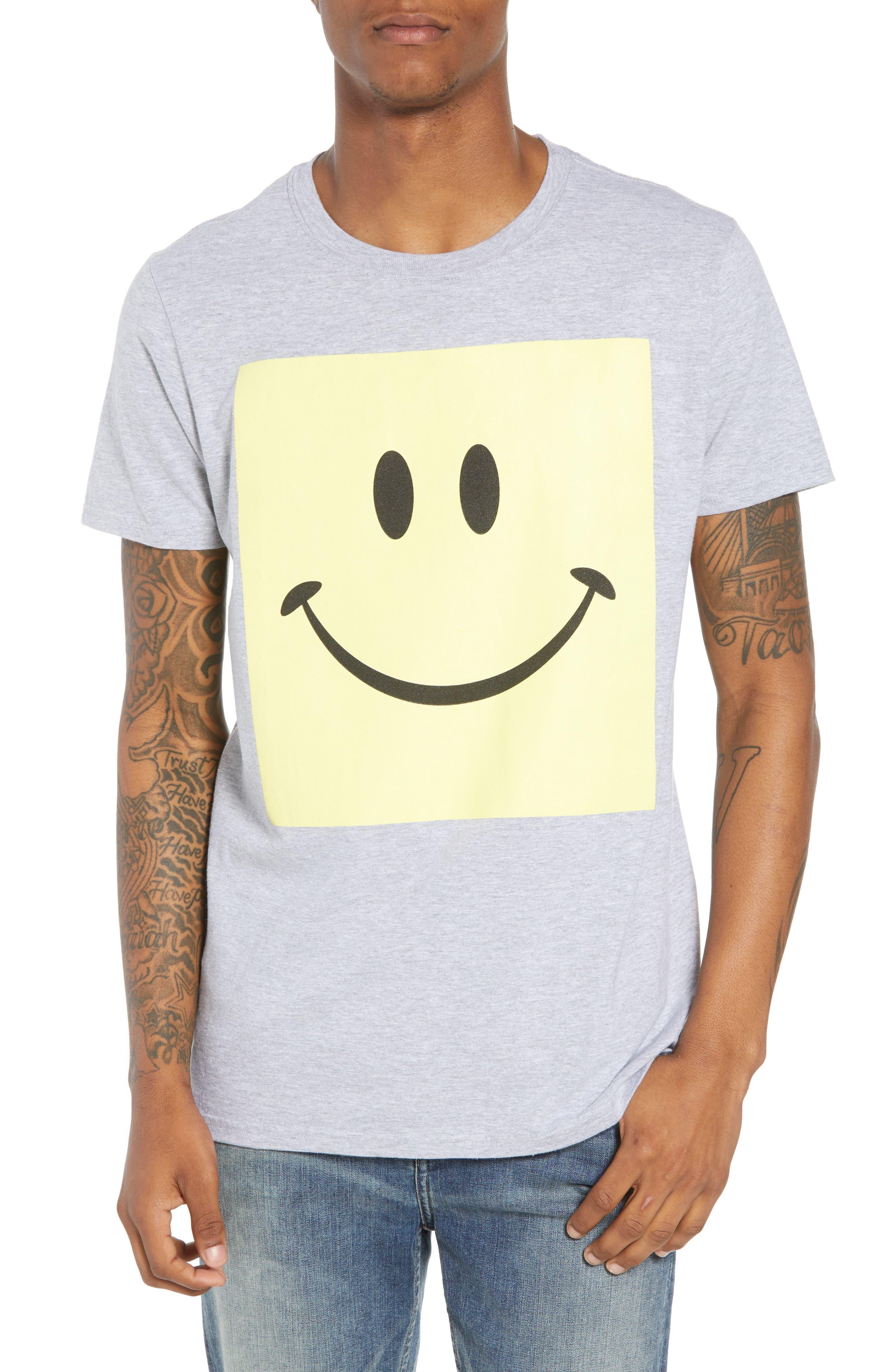 Box Smiley Graphic T-Shirt,                             Main thumbnail 1, color,