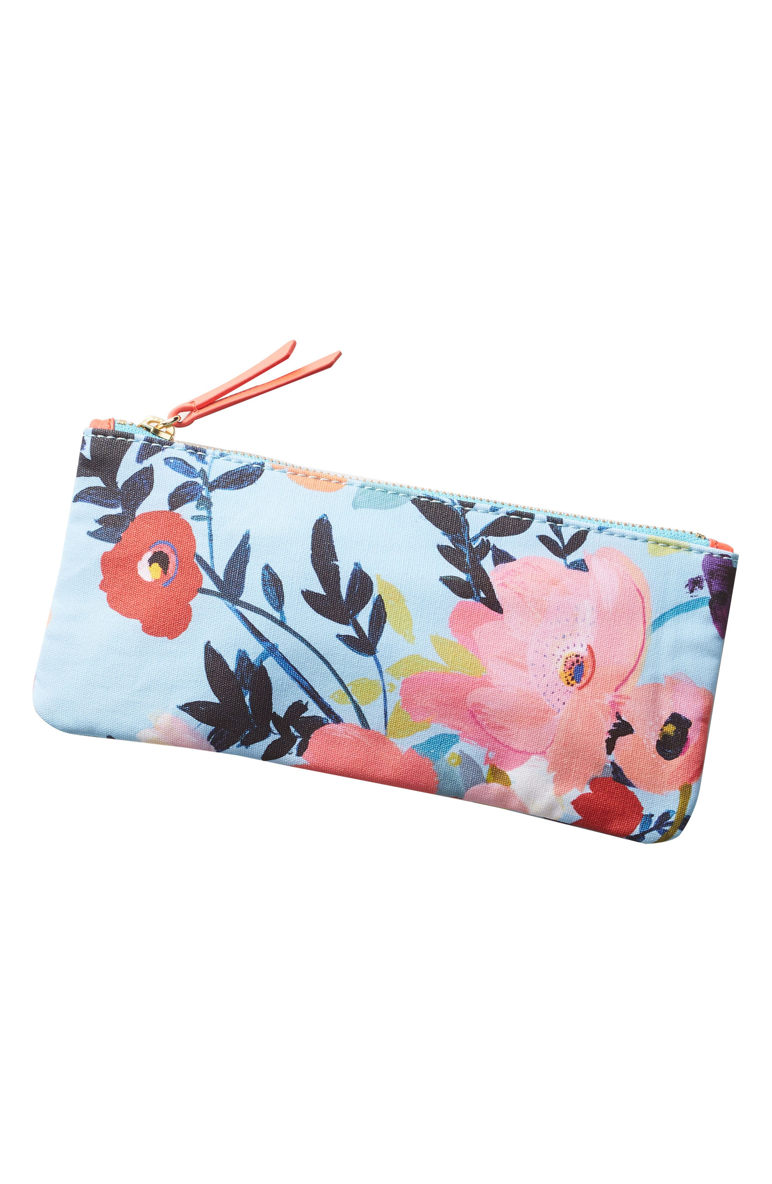 Picturesque Florals Pencil Pouch,                             Alternate thumbnail 3, color,                             400