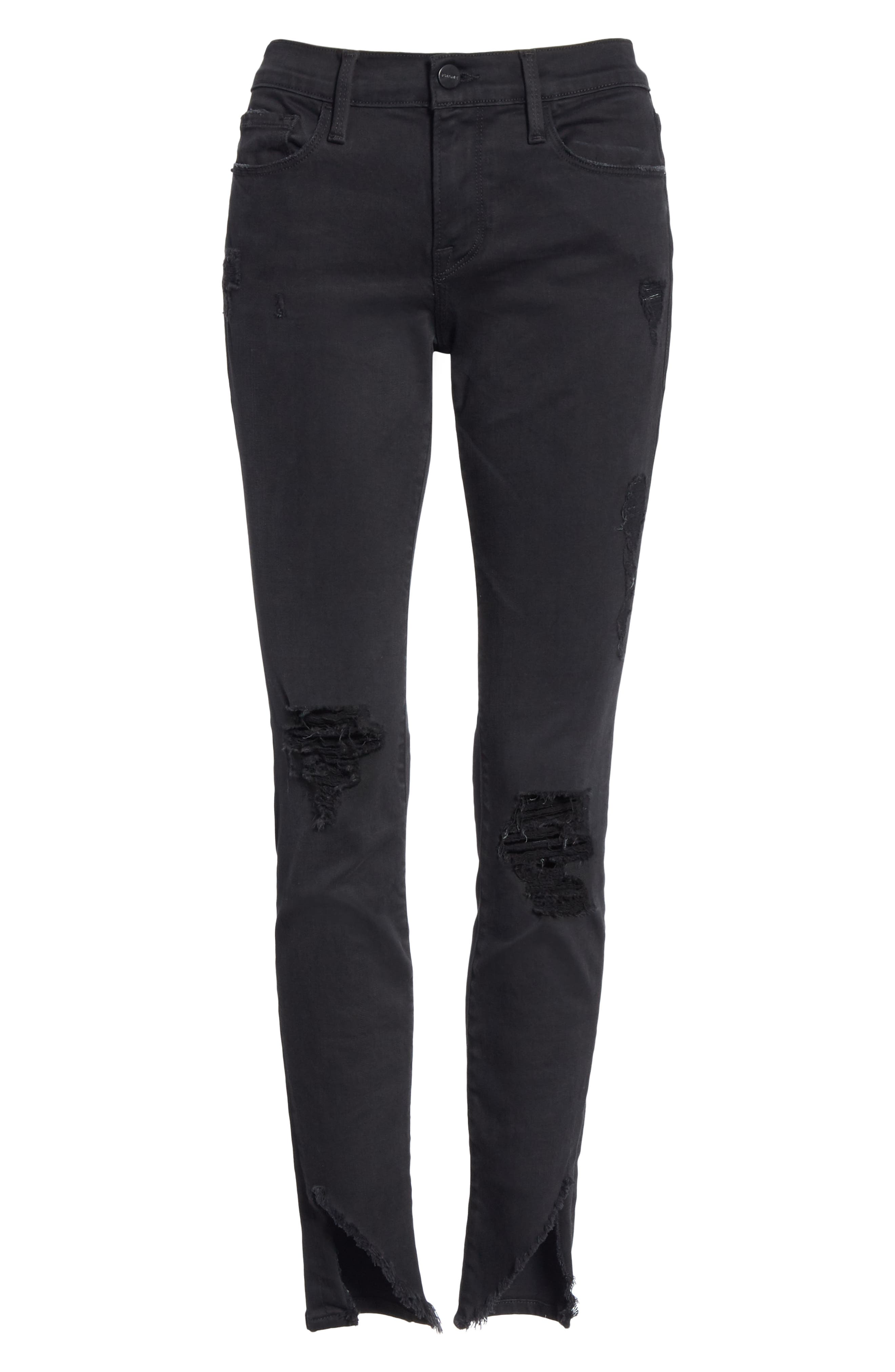 Le Skinny de Jeanne Ripped Skinny Jeans,                             Alternate thumbnail 7, color,                             HATHAWAY