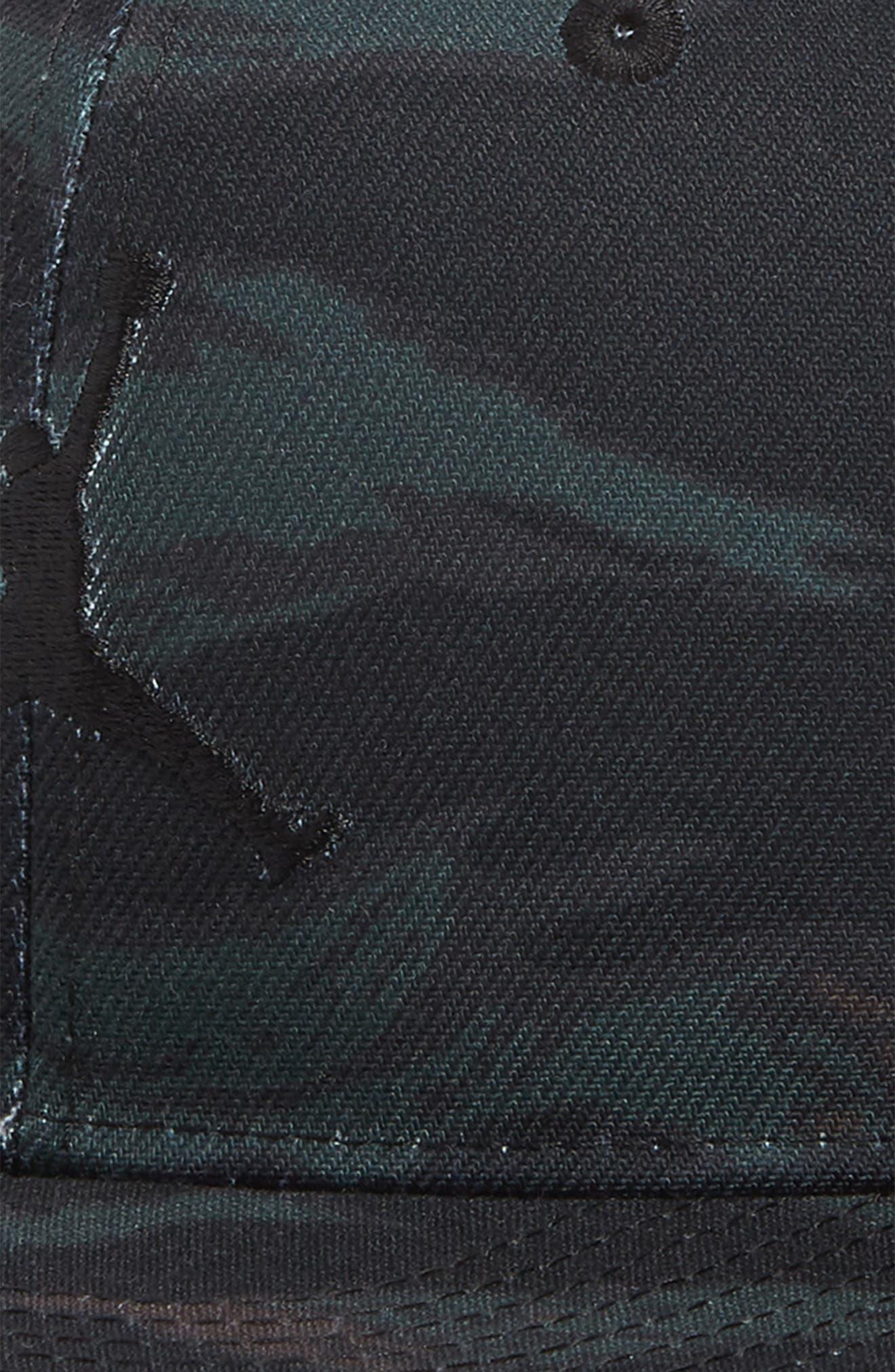 Nike Jumpman Logo Baseball Cap,                             Alternate thumbnail 3, color,                             OLIVE CANVAS/ BLACK