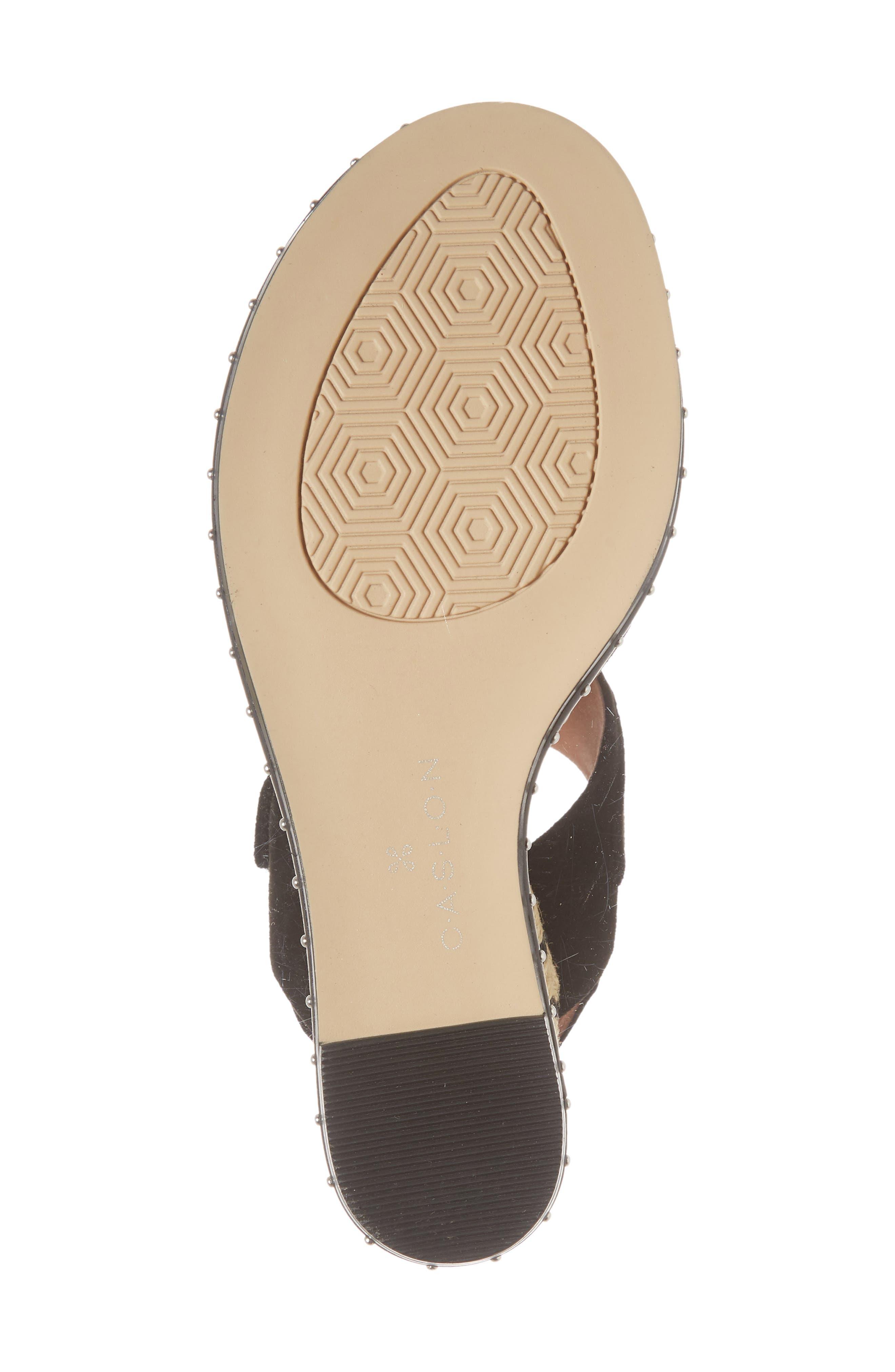 Braxton Platform Wedge Sandal,                             Alternate thumbnail 6, color,                             001